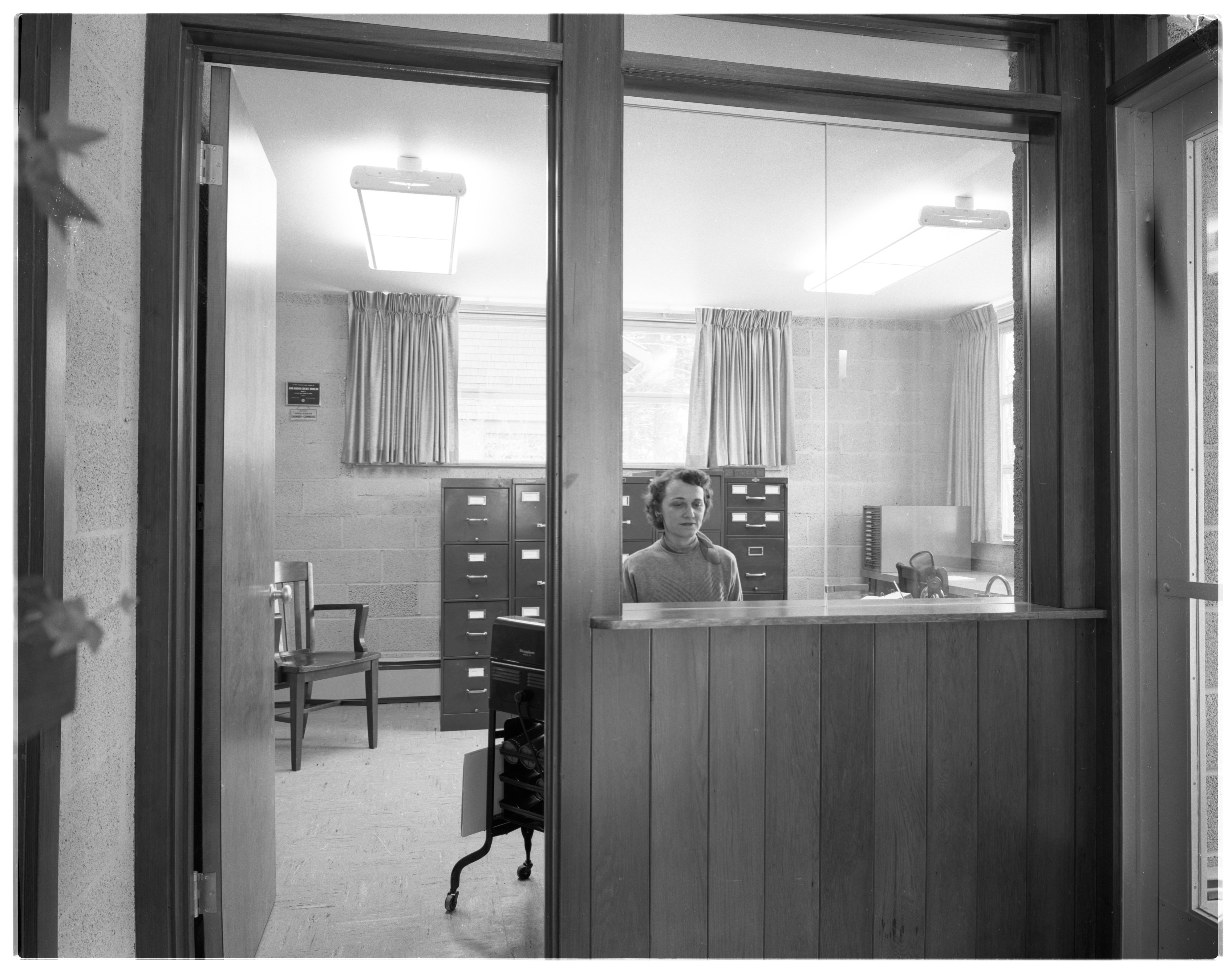 Dr. L. Dell Henry's Allergy Clinic - Business Office, January 1955 image