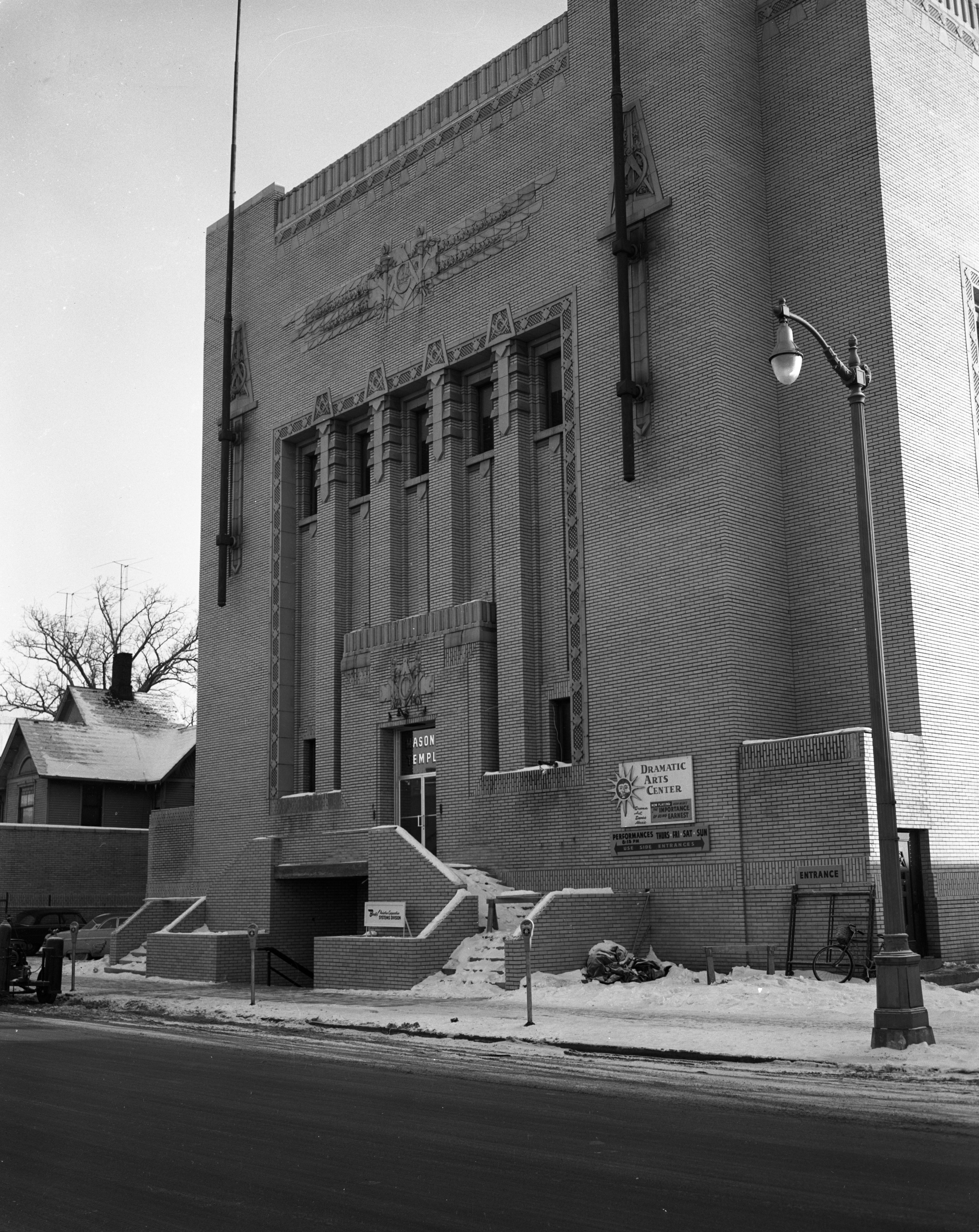 New exterior of Masonic Temple, January 1957 image