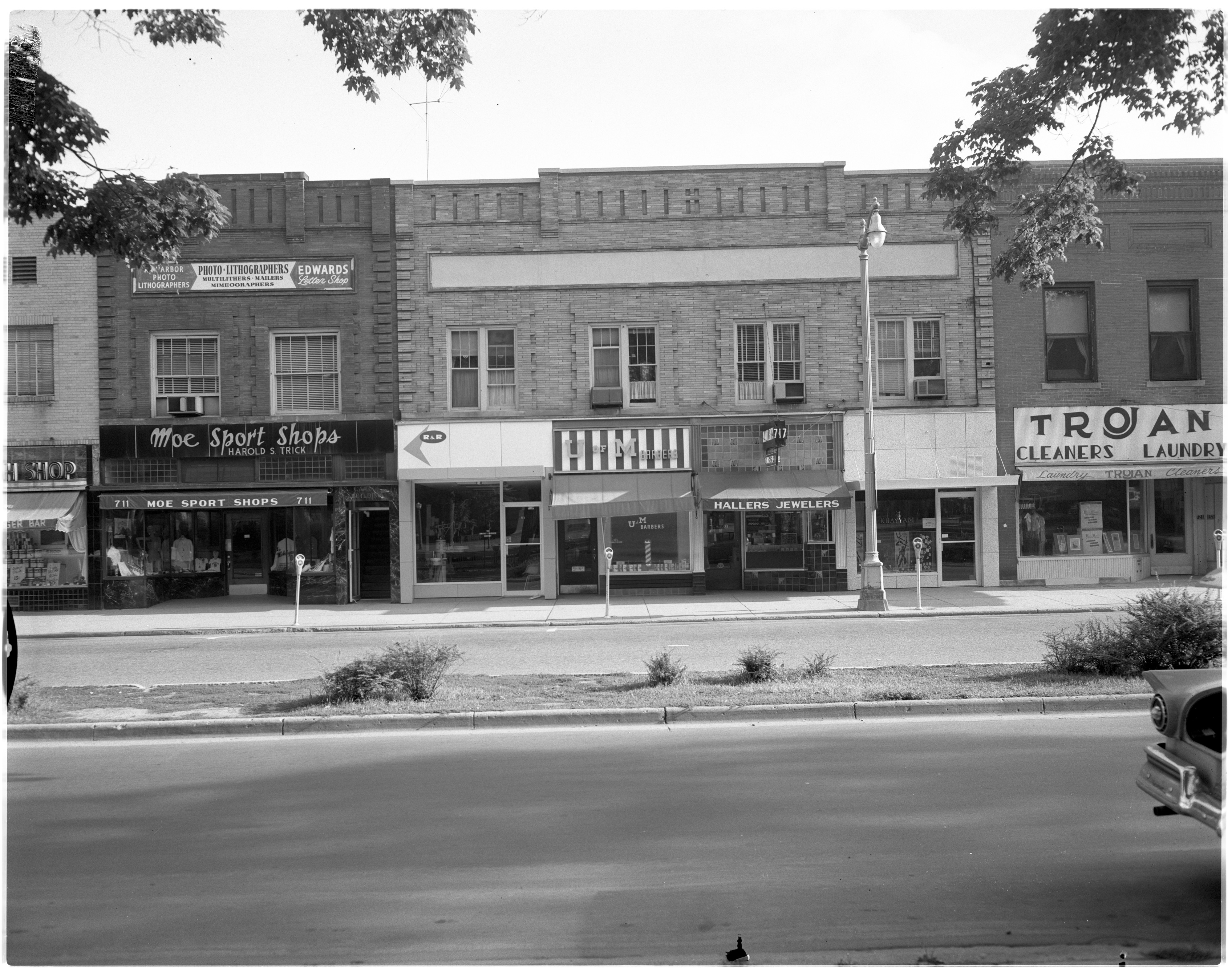Shops along North University Ave image