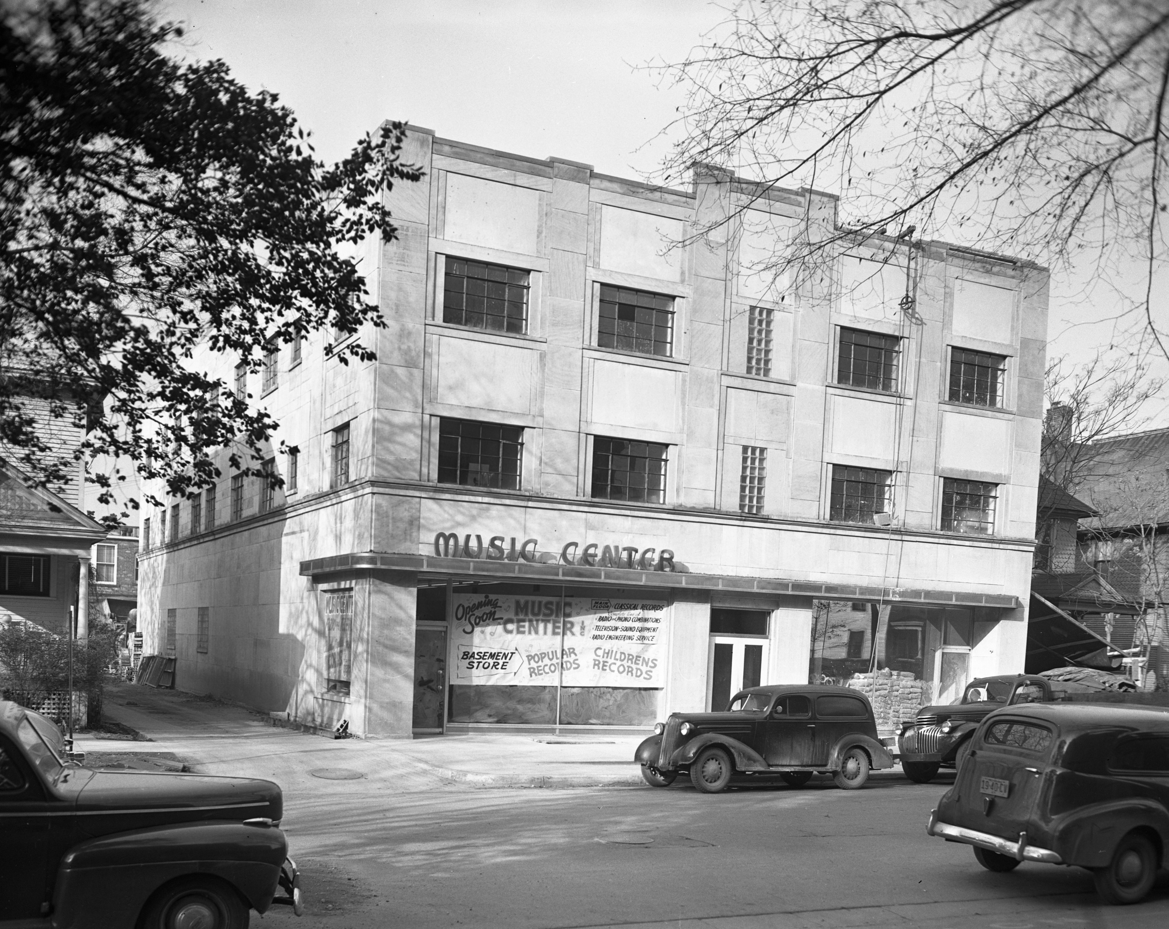 New Hotel and Store Front of Ann Arbor Music Center, December 1947 image