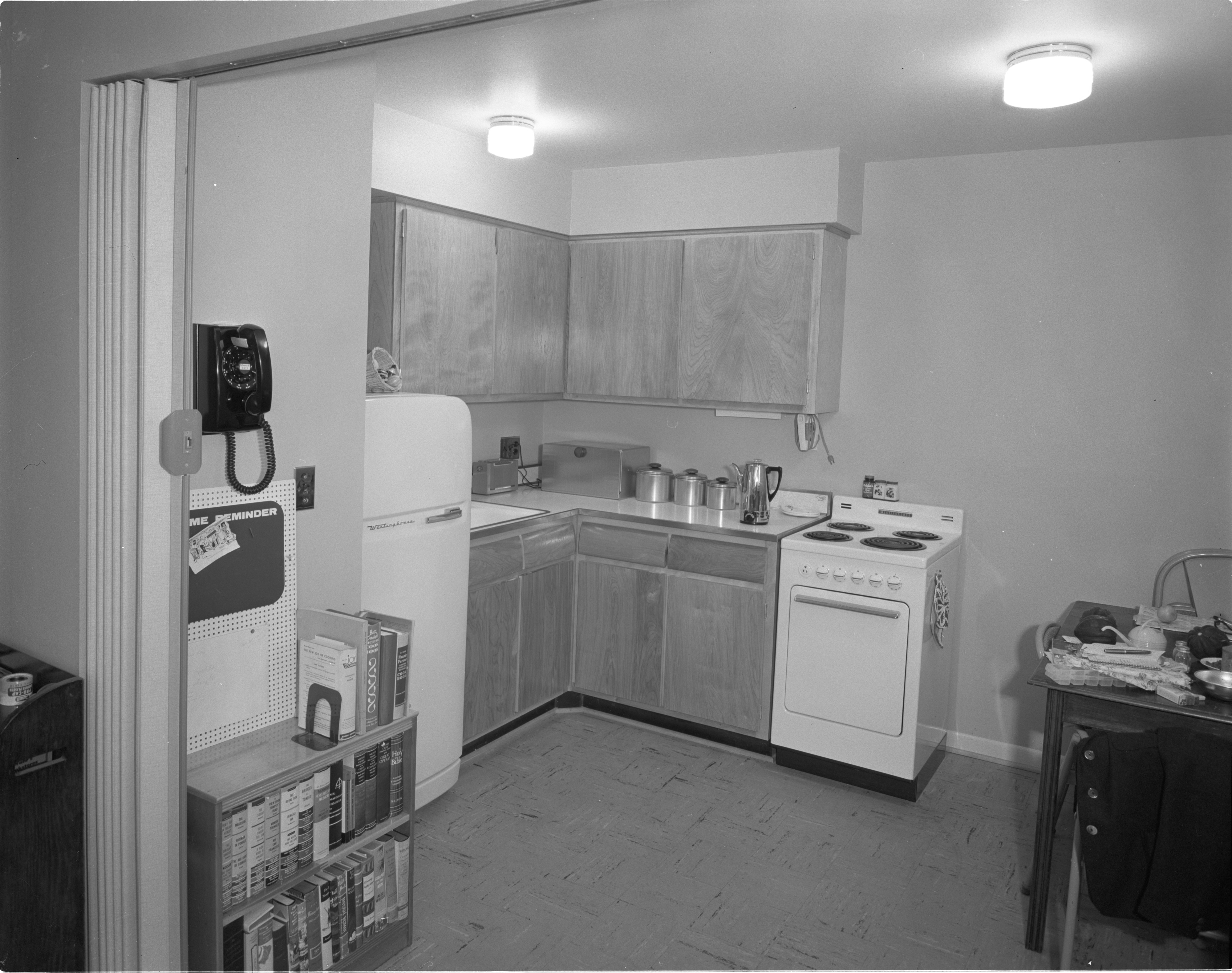 Newly Constructed Huron Arms Apartments - Kitchen, September 1956 image