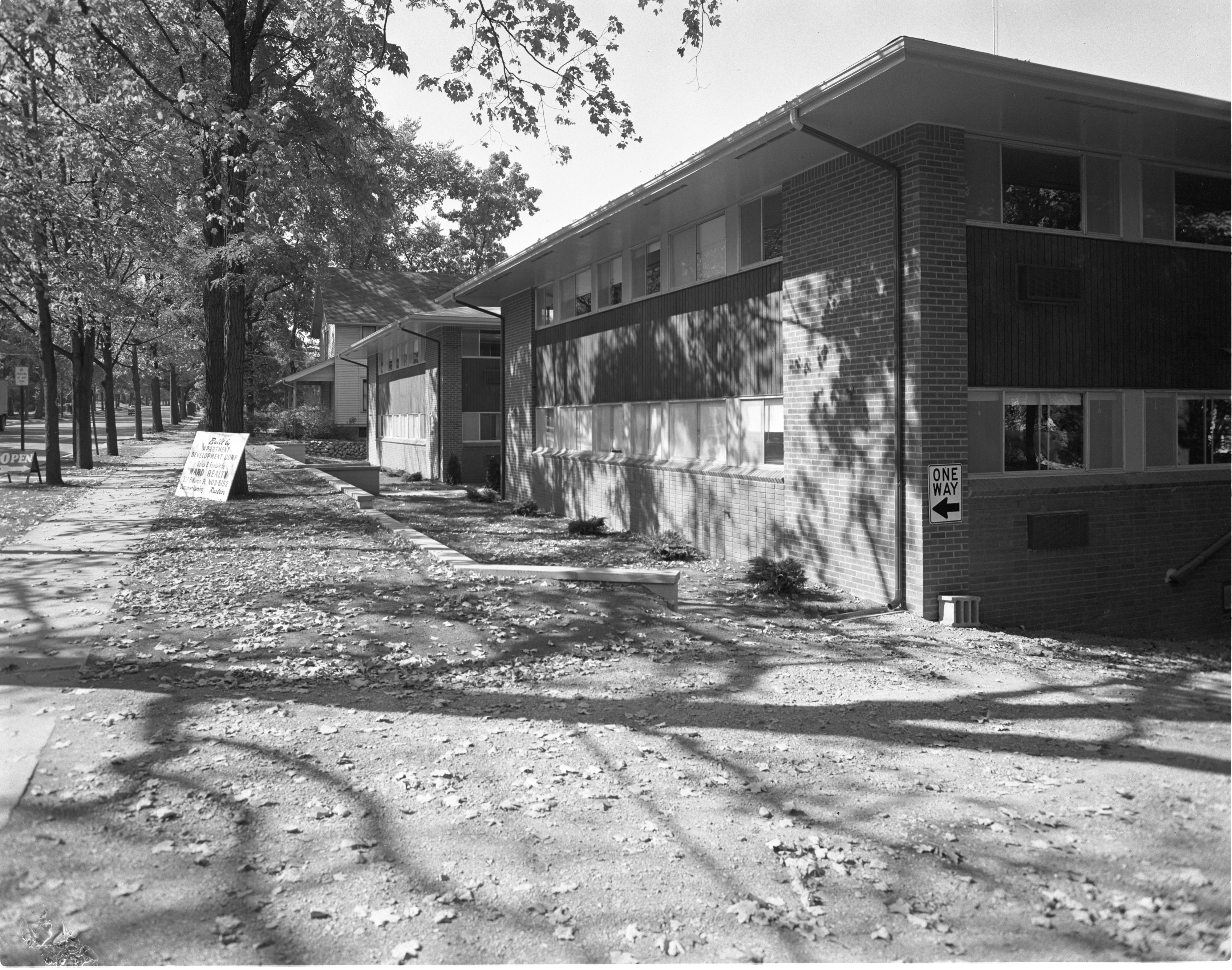 Newly Constructed Huron Arms Apartments - Exterior, September 1956 image