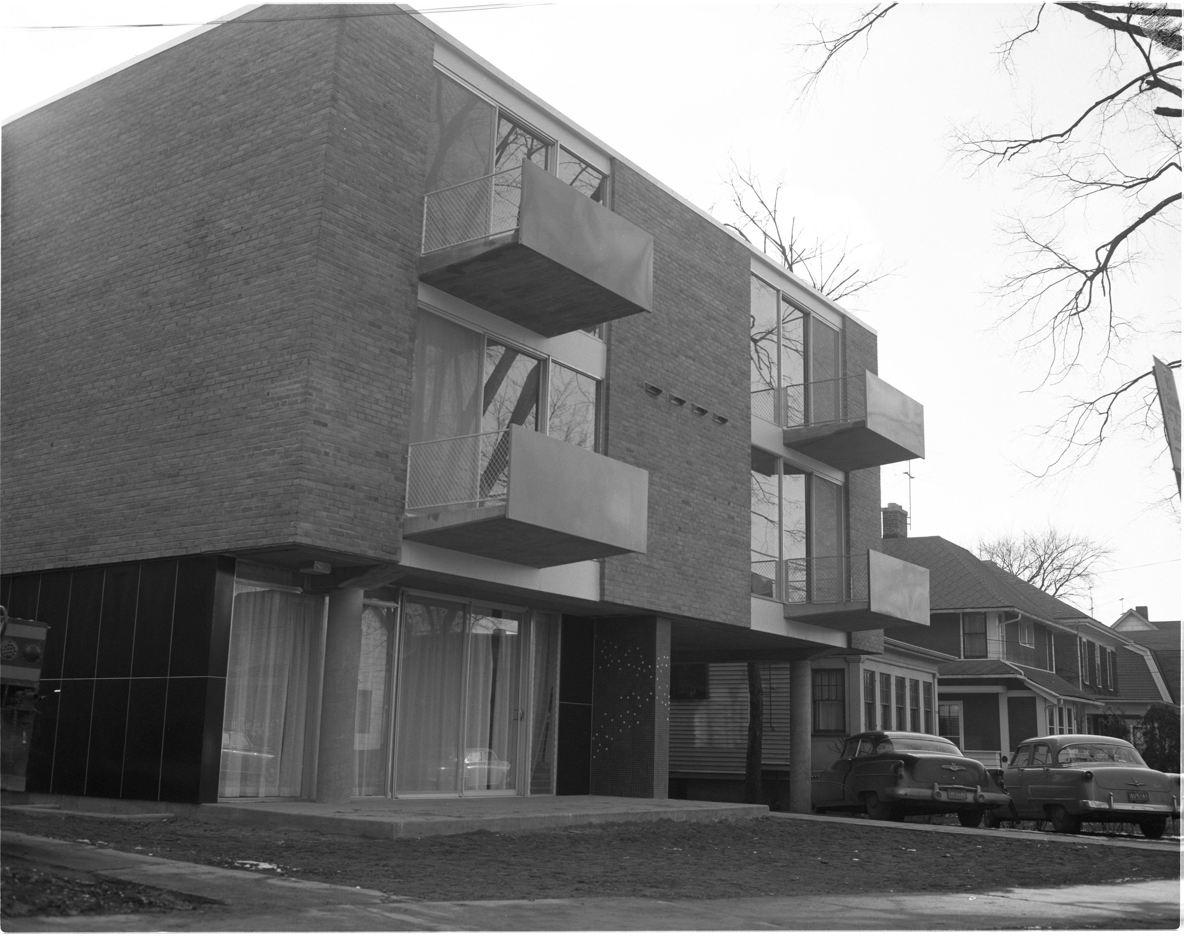 Exterior Of Newly Constructed Geddes Apartments - 1336 Geddes Avenue, November 1957 image
