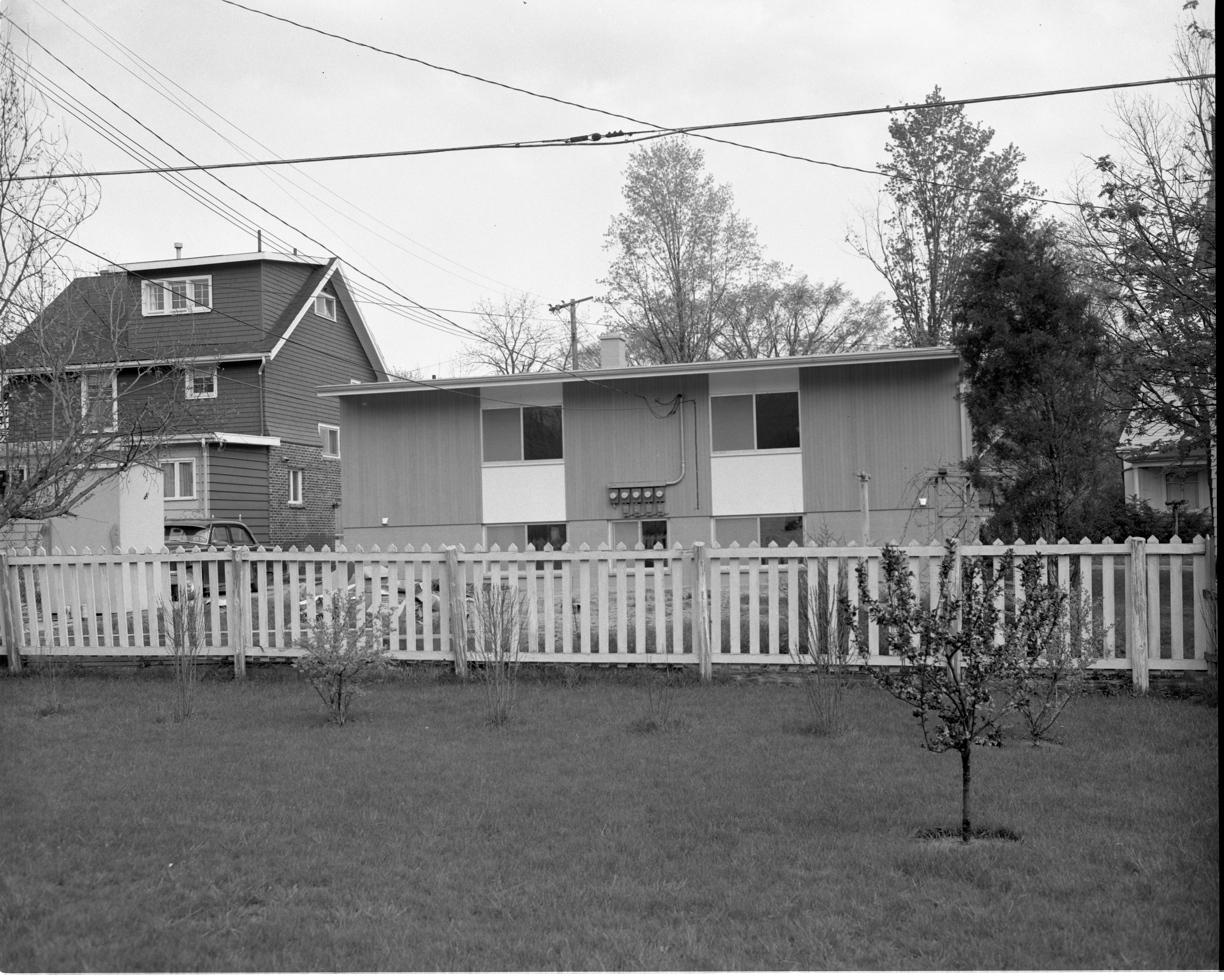 845 Brookwood Place - Rear View Of New Apartment Building On Site Of House Destroyed In May 1959 Windstorm, May 1960 image