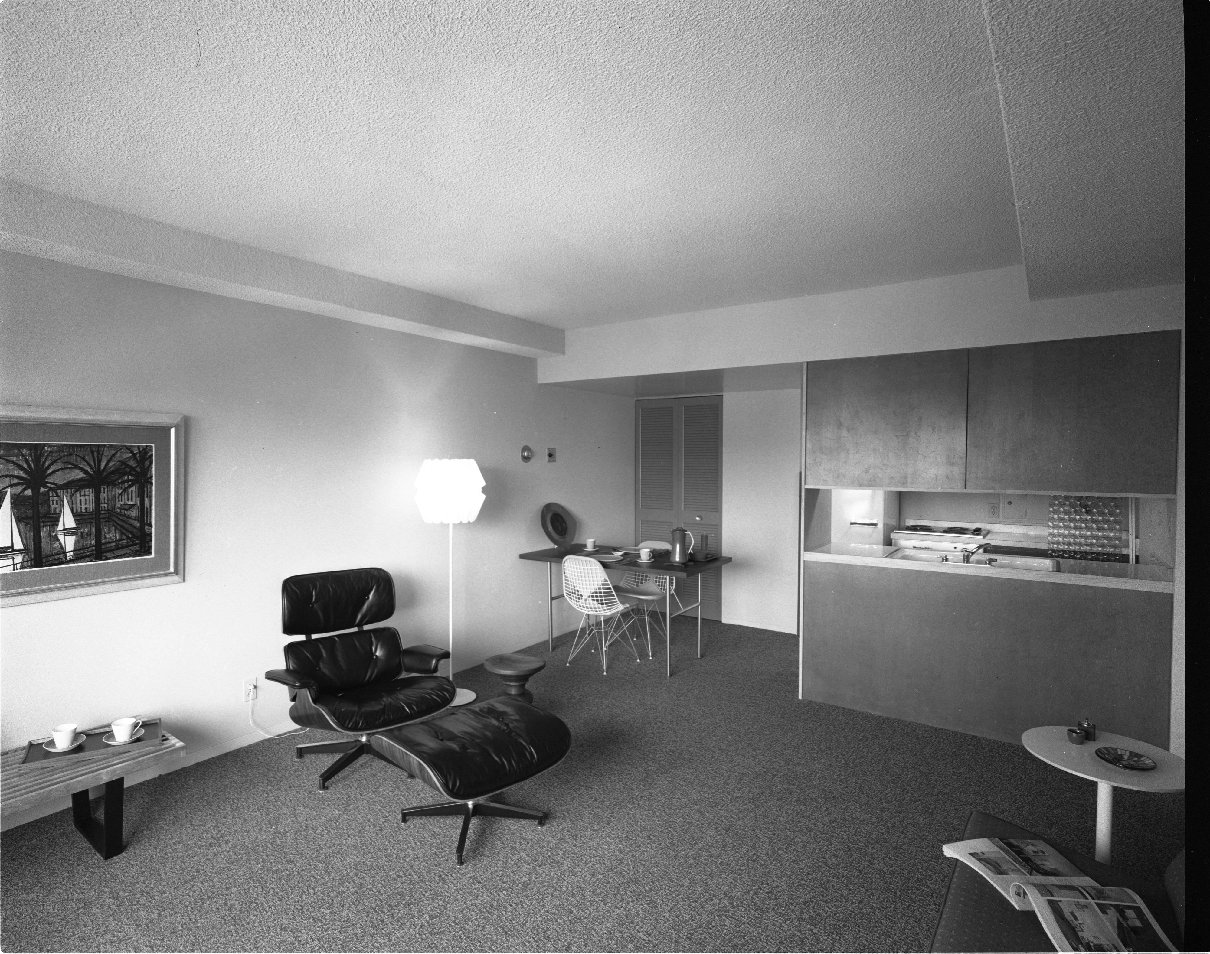 Maynard House Apartment, Herman Miller Model, Interior, May 25, 1962 ...