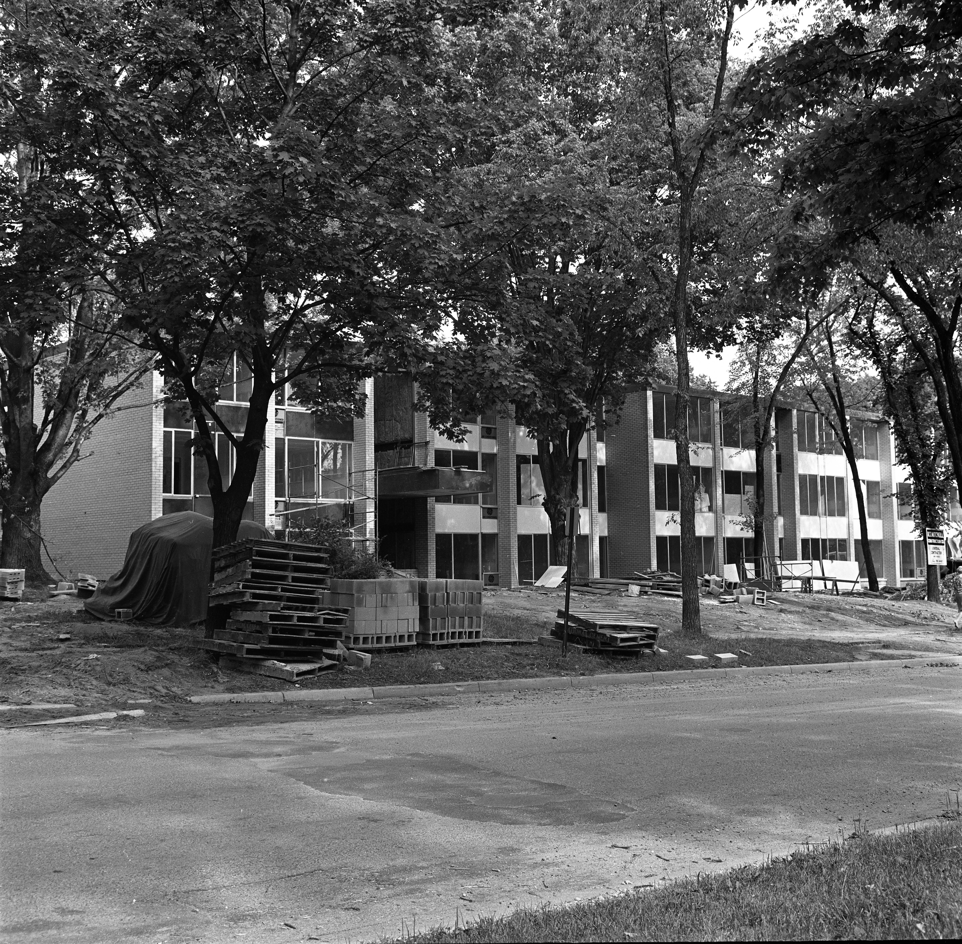 S. Forest Apartment Construction, July 19, 1966 image