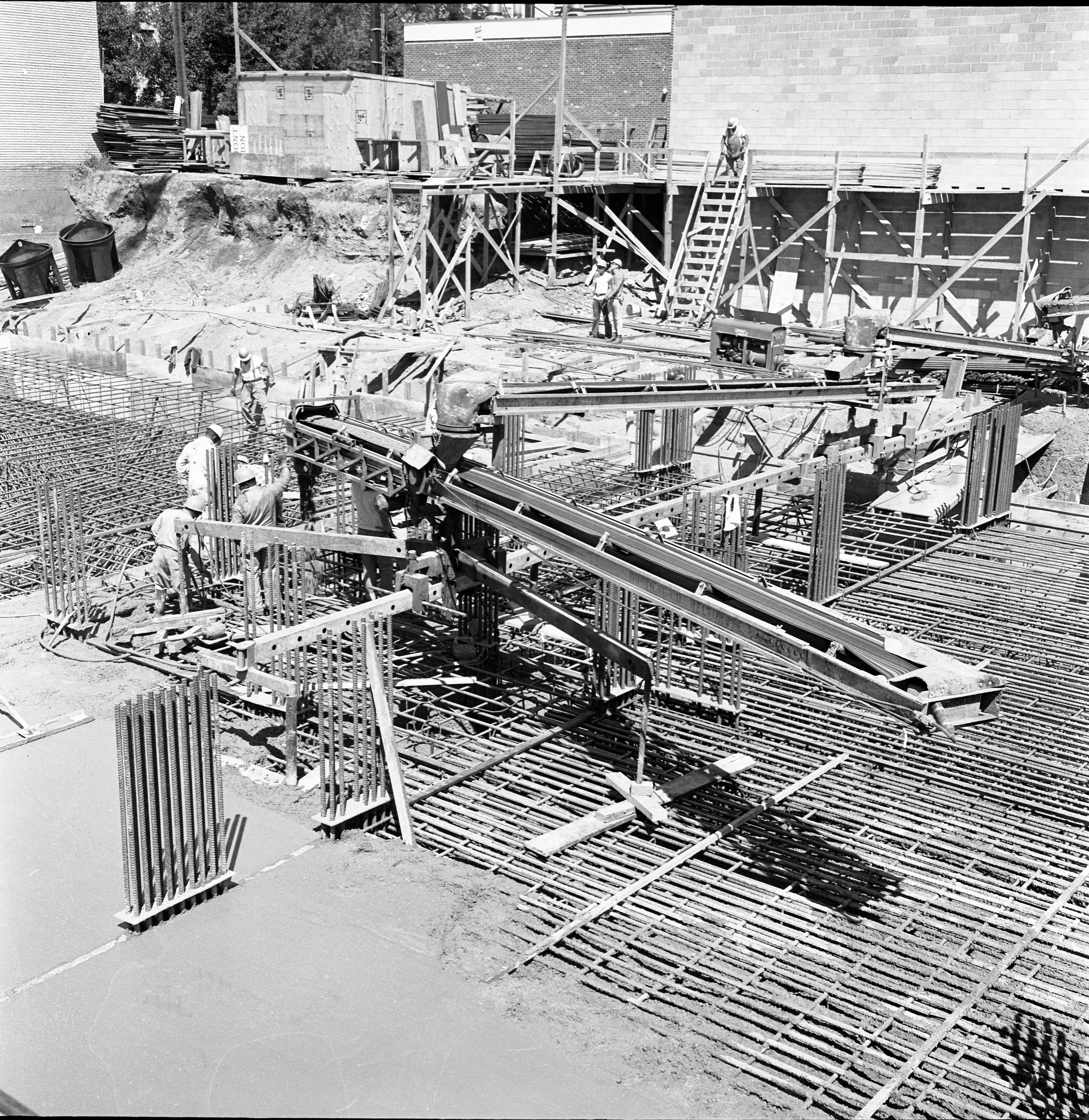 Concrete Being Poured For Tower Plaza Footings, August 1966 image