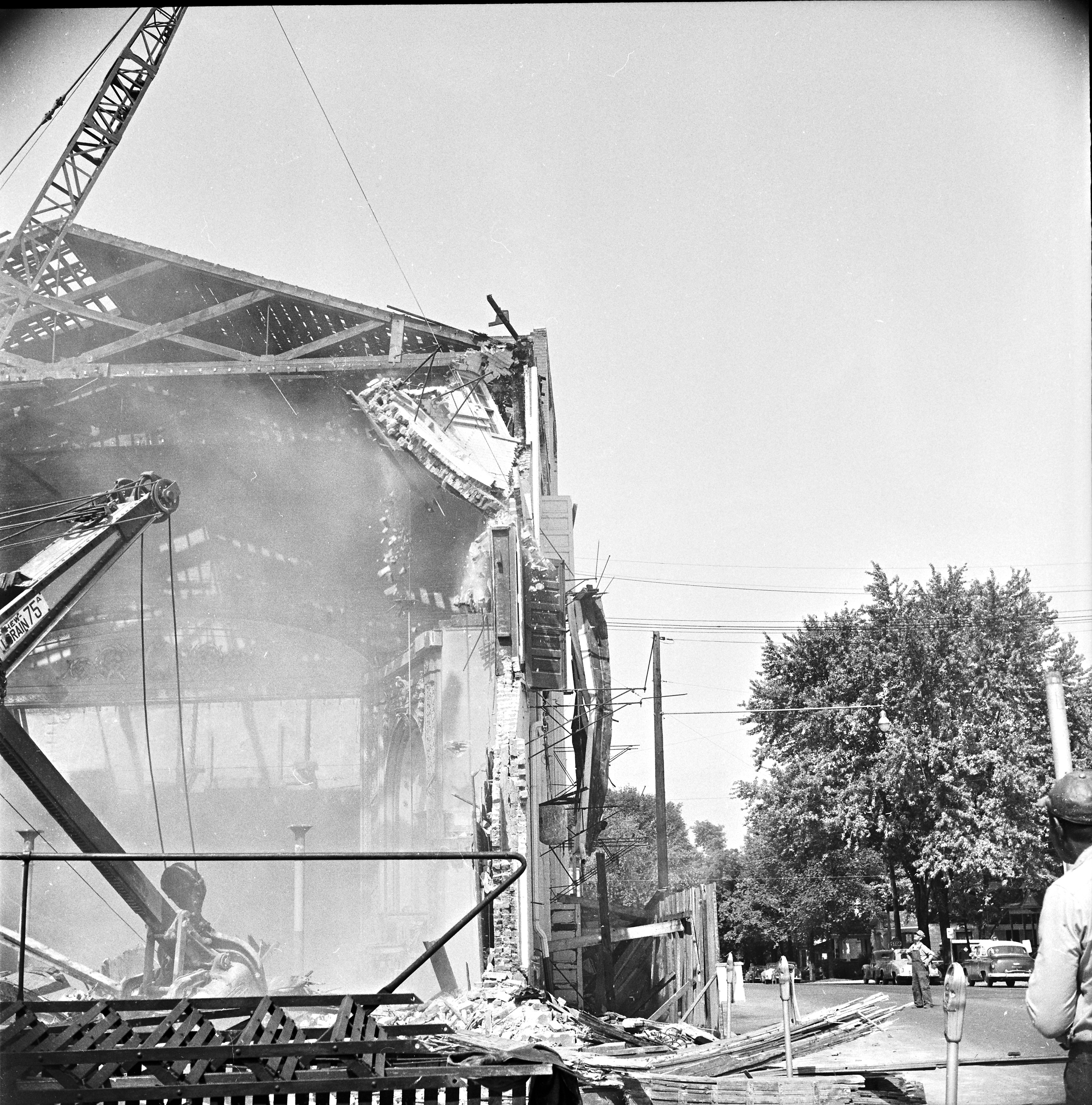 Whitney Theater Comes Down, May 1955 image