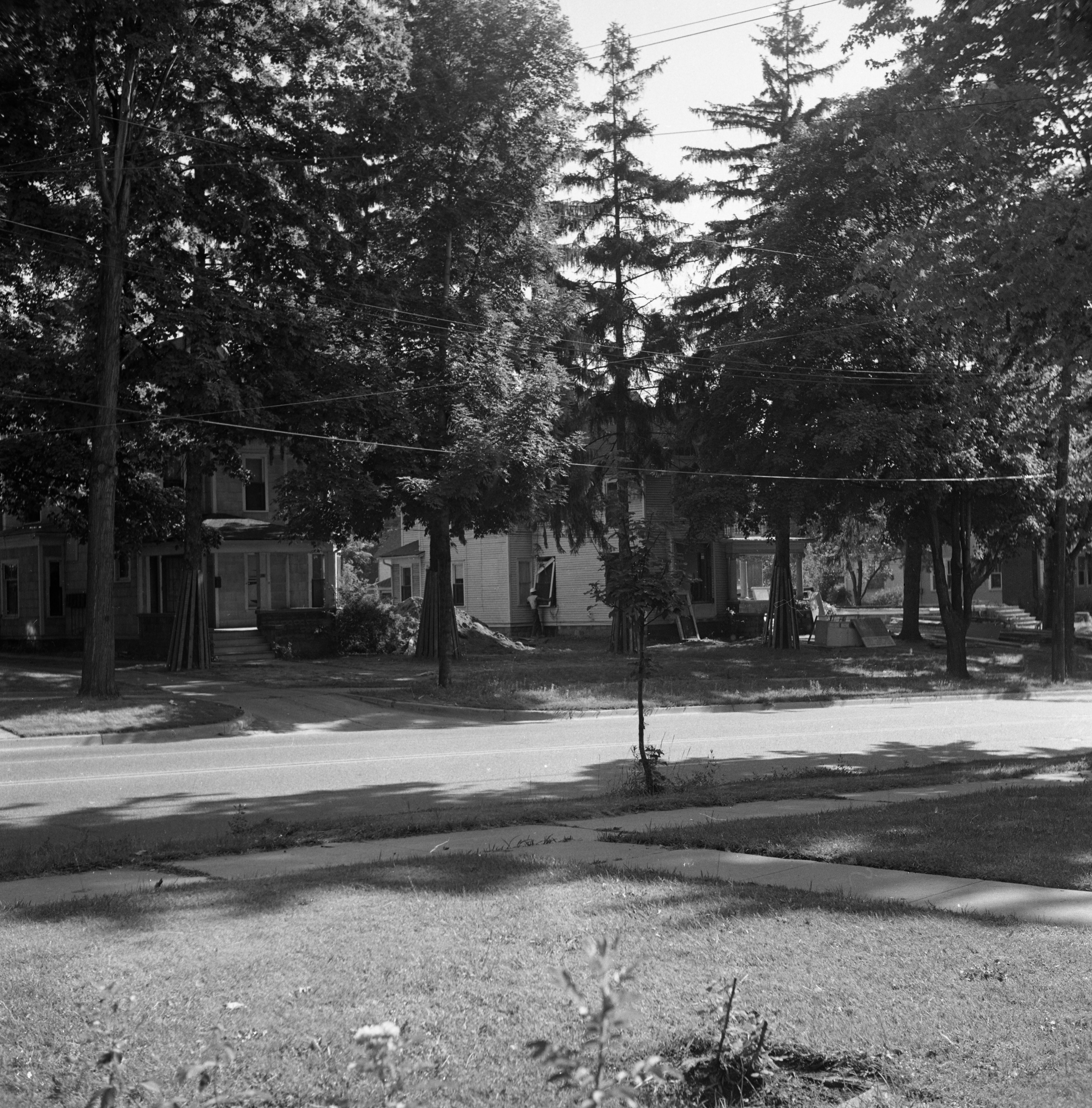 Houses Demolished To Make Way for Lurie Terrace Senior Citizens Housing Project, July 1963 image