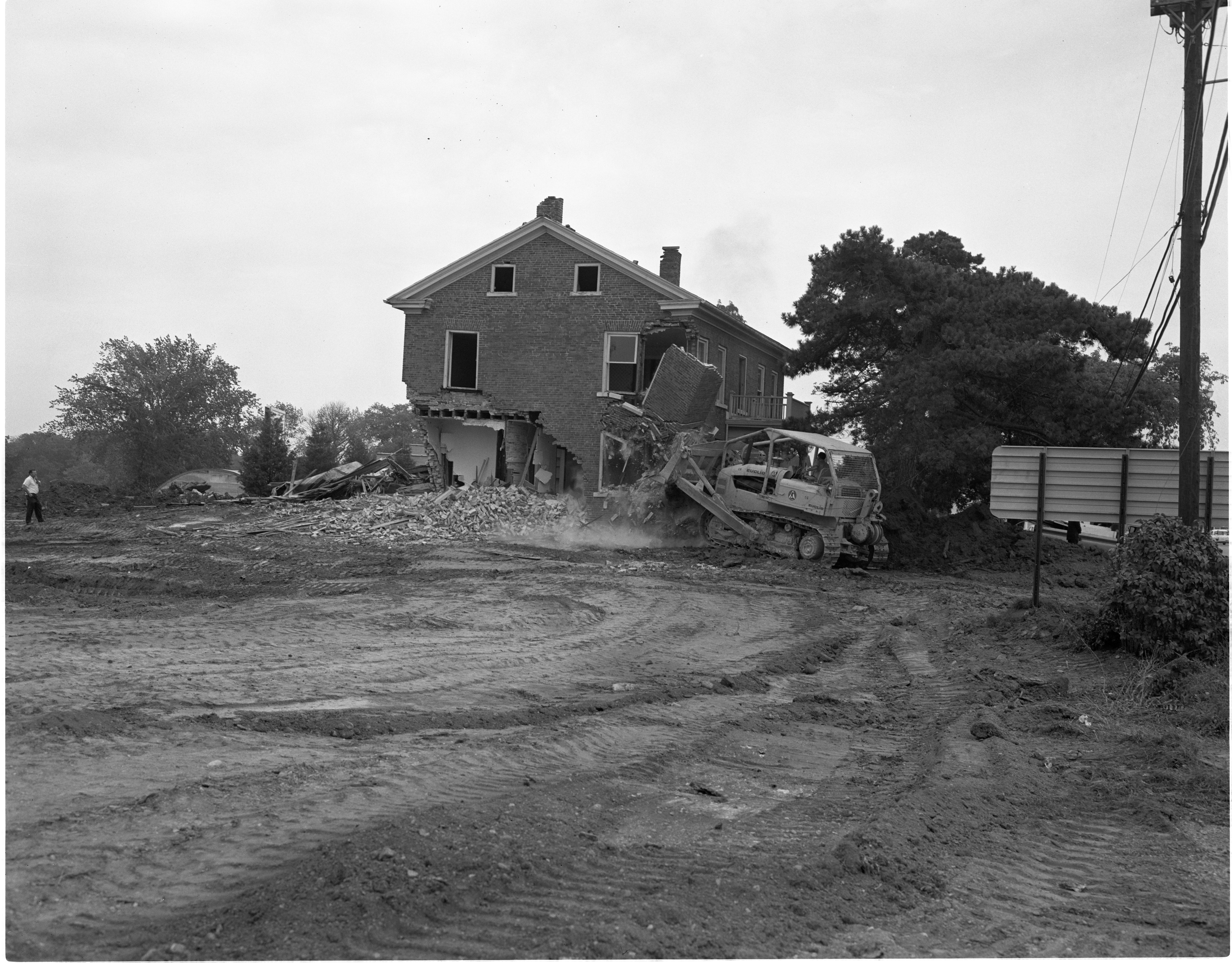 120-Year-Old Home Demolished To Make Room For Maple Village Shopping Center, September 1965 image