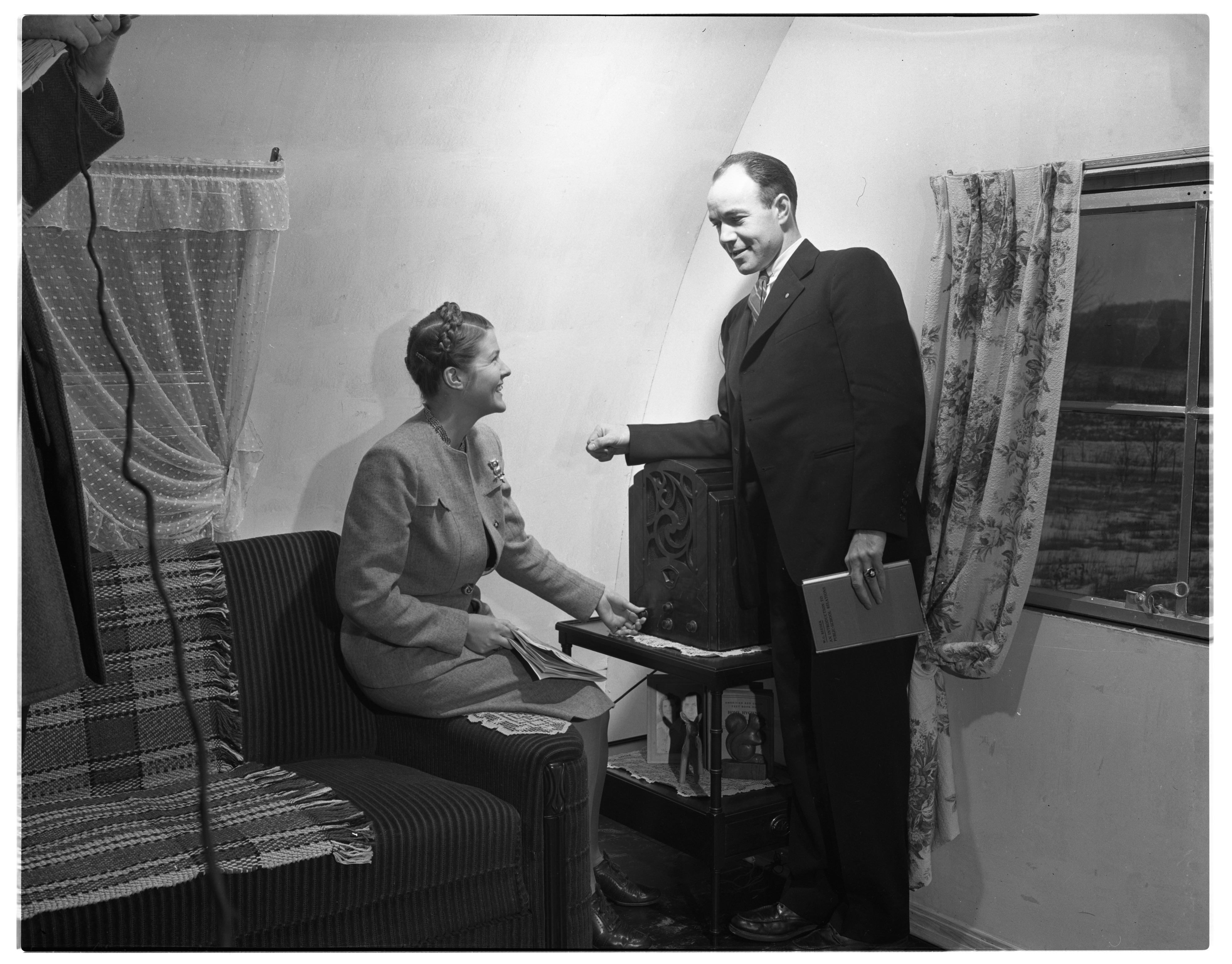 Quonset Hut Home, Interior, Ann Arbor, February 1947 Image