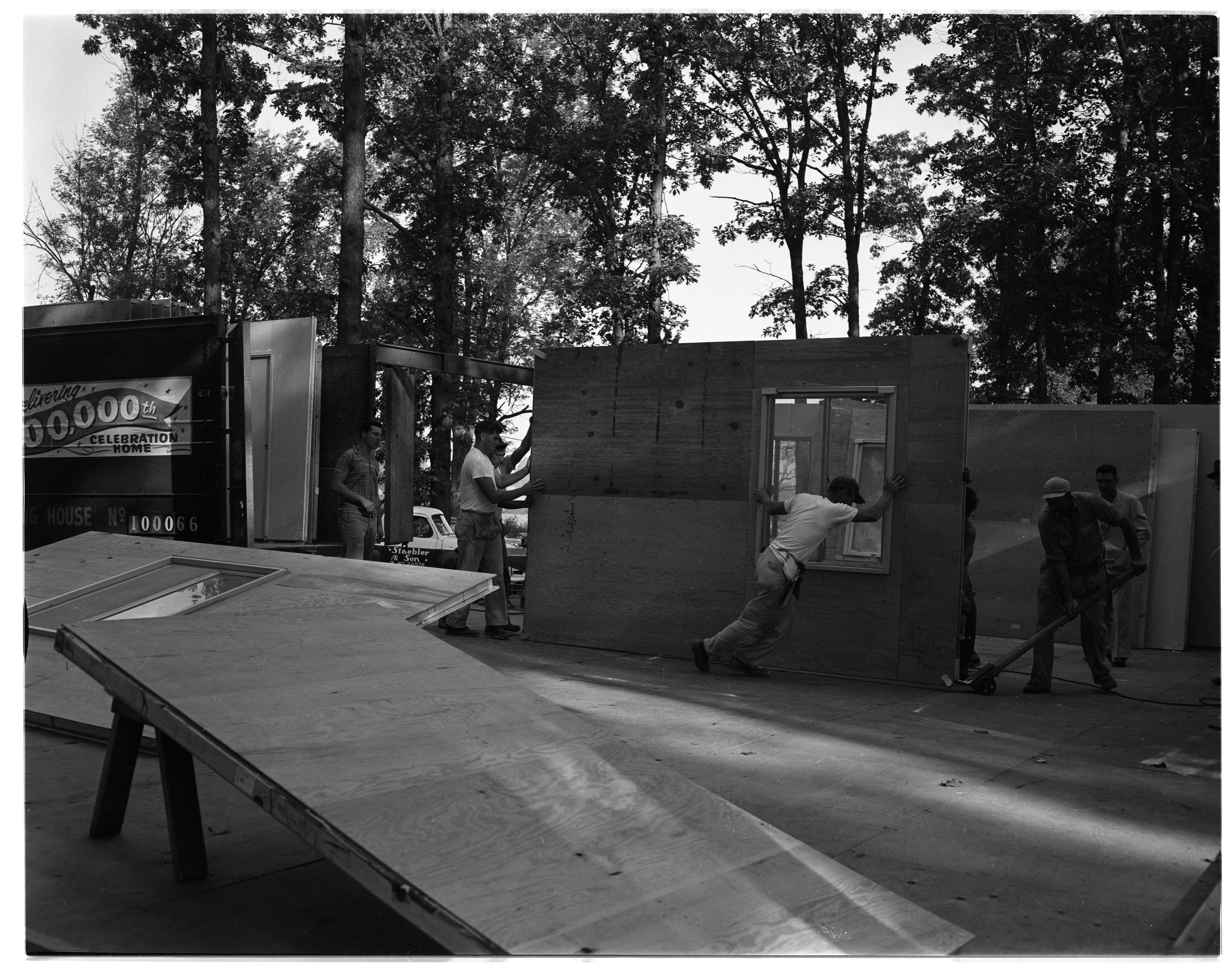 Staebler & Son Manufactured Home Construction, 1020 Maple Rd., September 1956 image