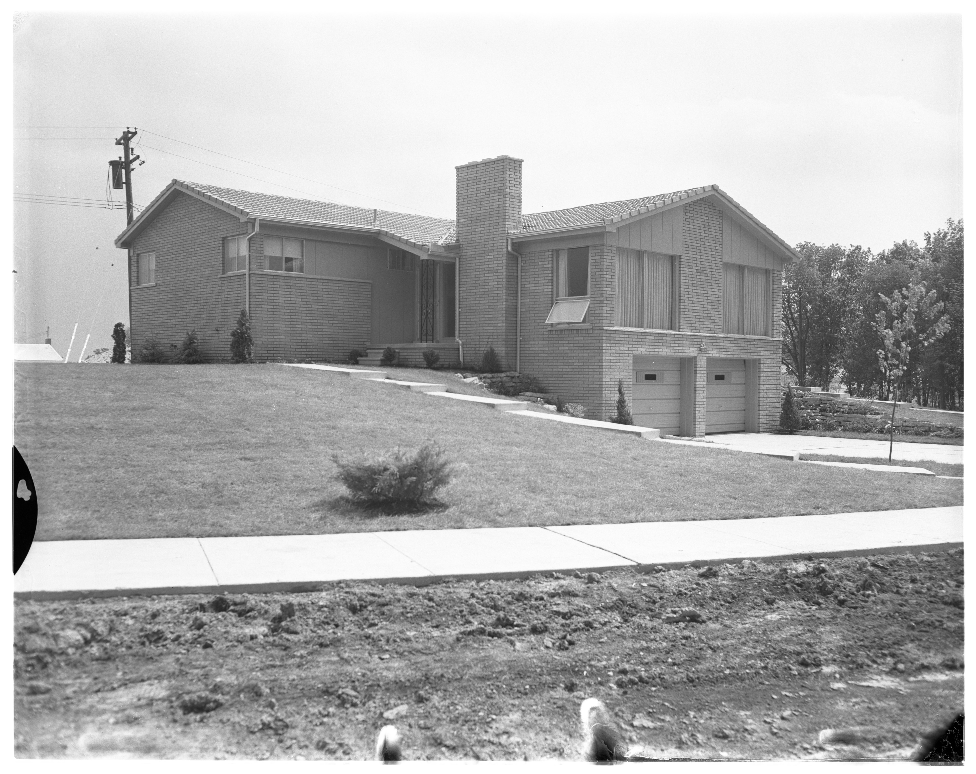 Sapphire Model Home in Ann Arbor Woods Subdivision, June 1957 image