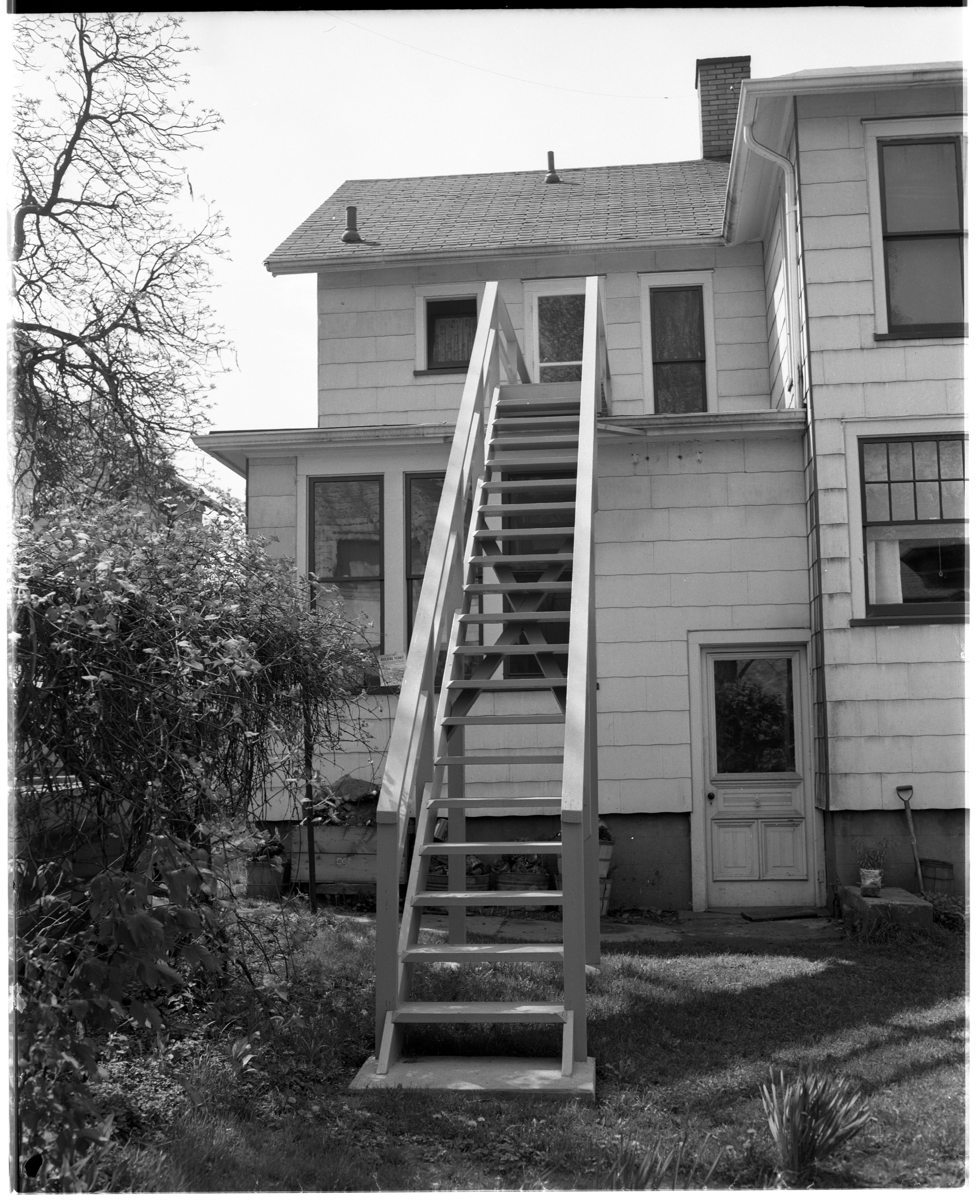 New Fire Escape at 607 E. Ann St., May 1955 image