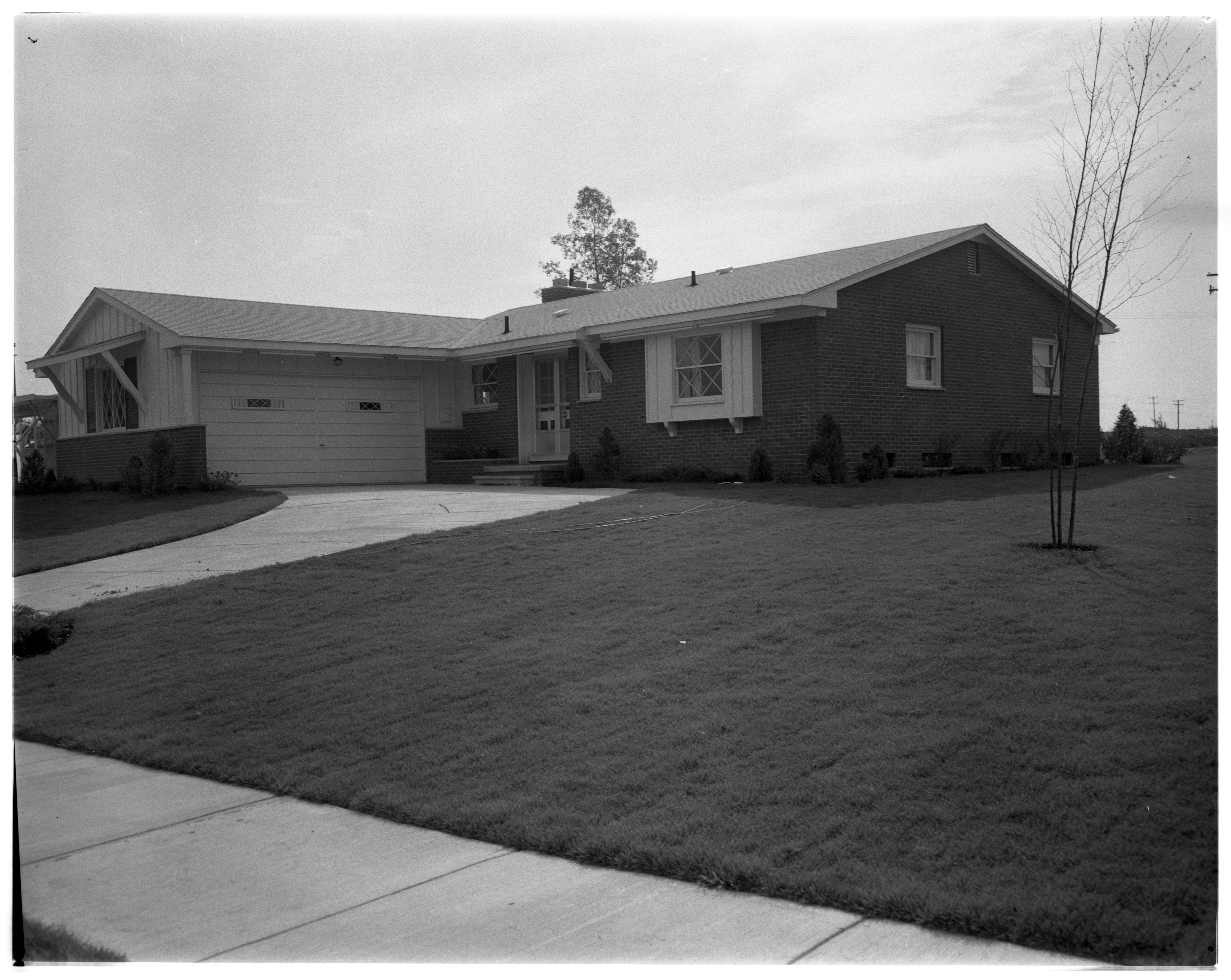"""The Richmond"" Model Home in Forestbrooke Subdivision, September 1960 image"