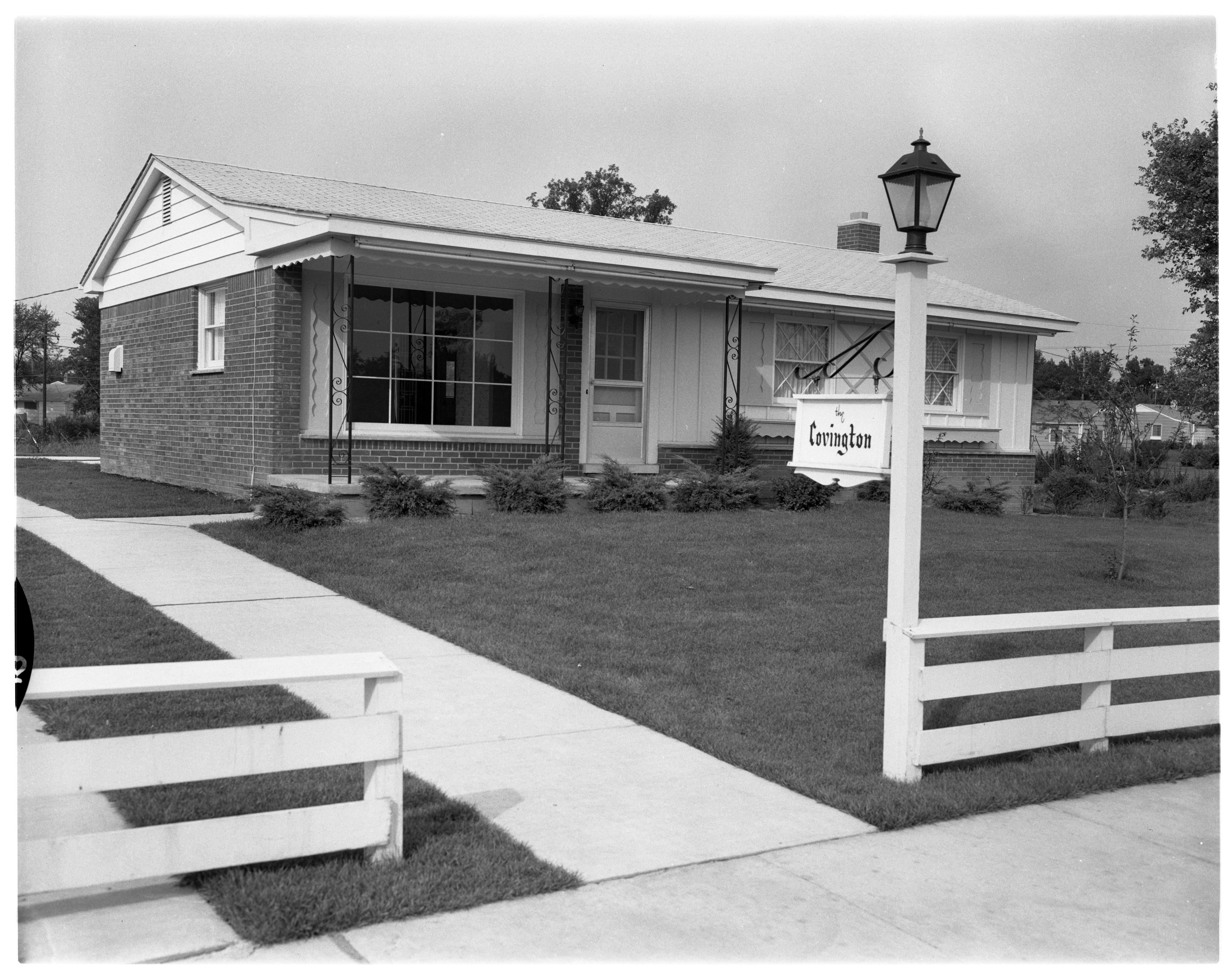 """Covington"" Model Home in Forestbrooke Subdivision, September 1960 image"
