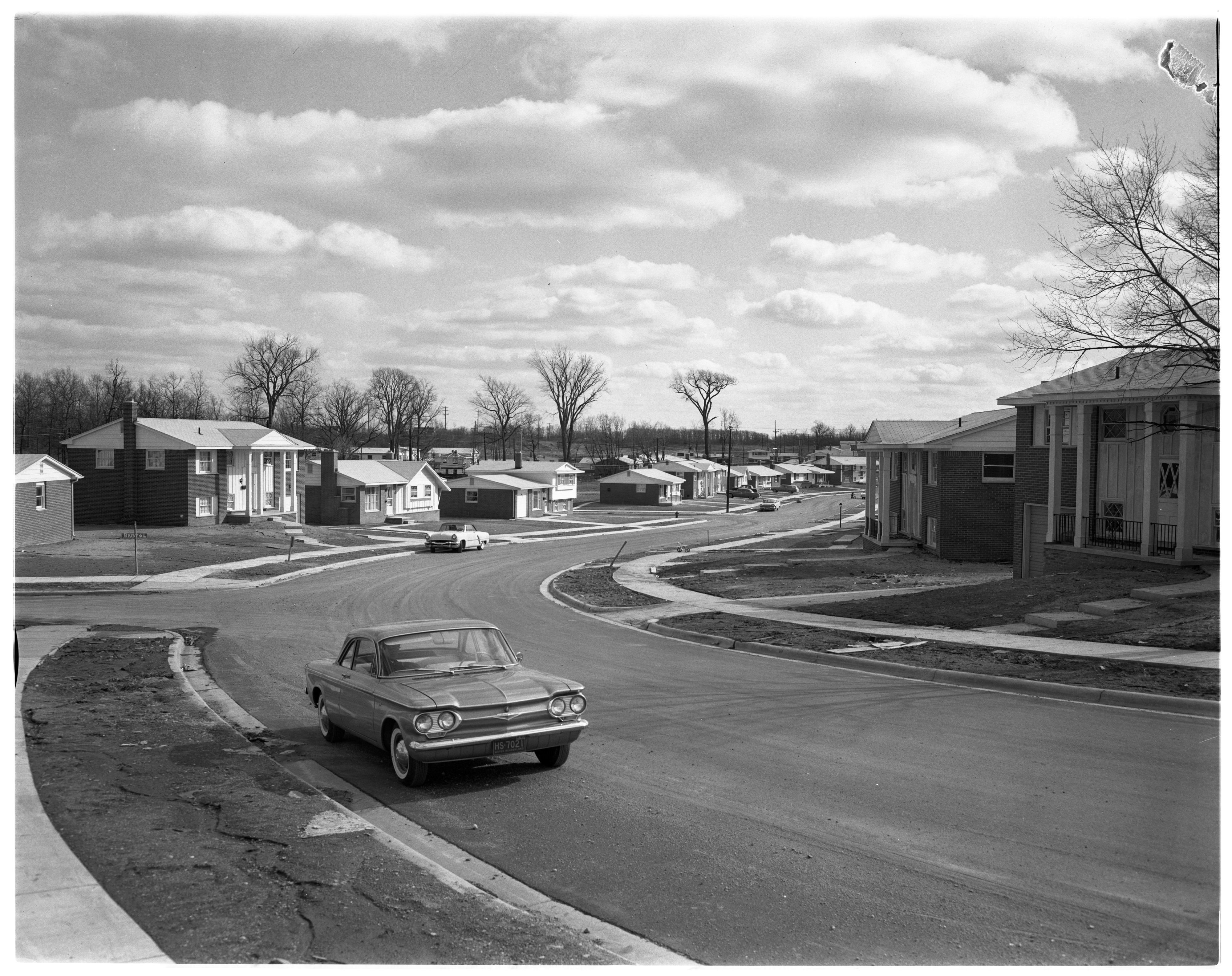 Forestbrooke Subdivision Streetscape, April 1961 image