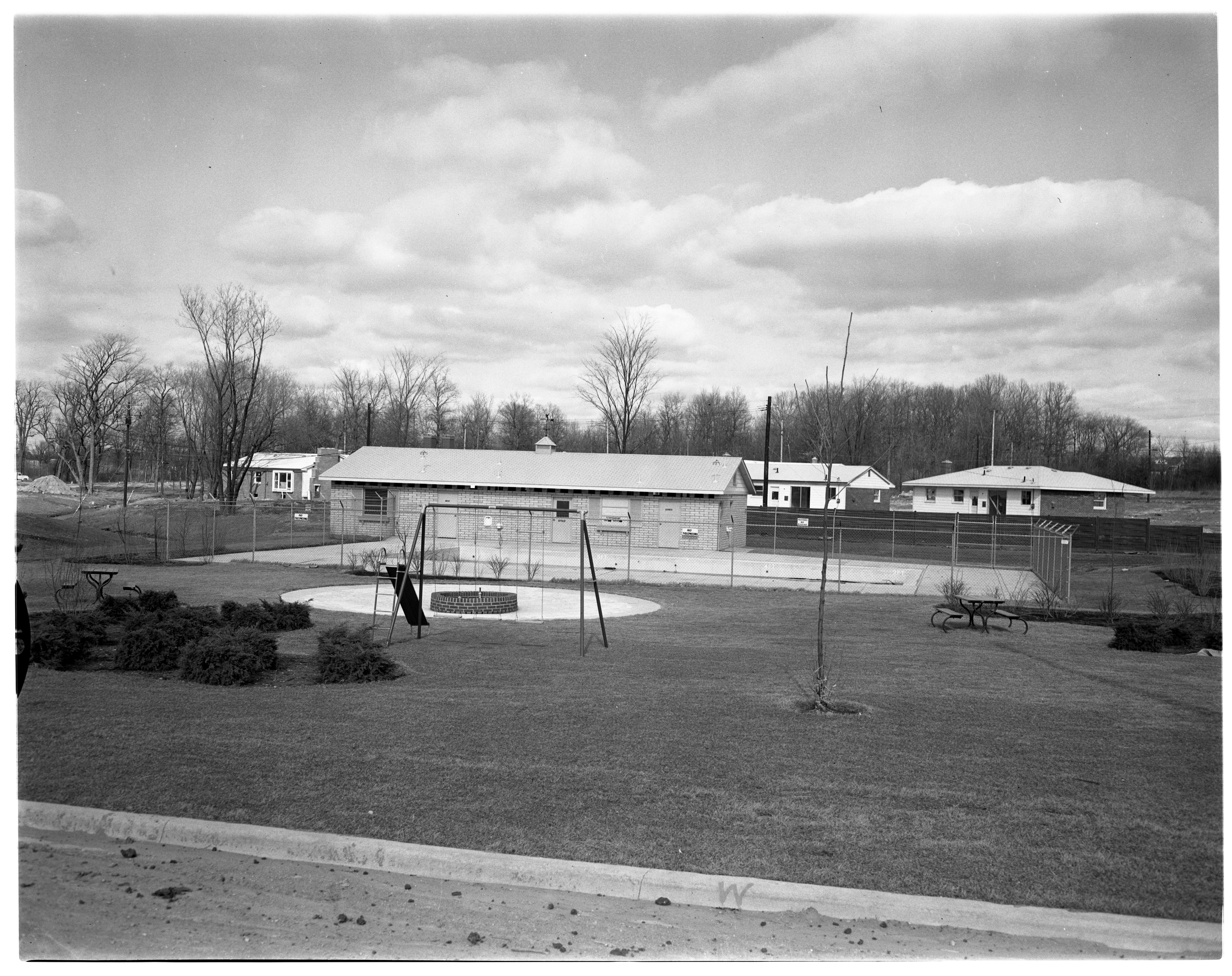 Forestbrooke Subdivision Playground and Swimming Pool, April 1961 image