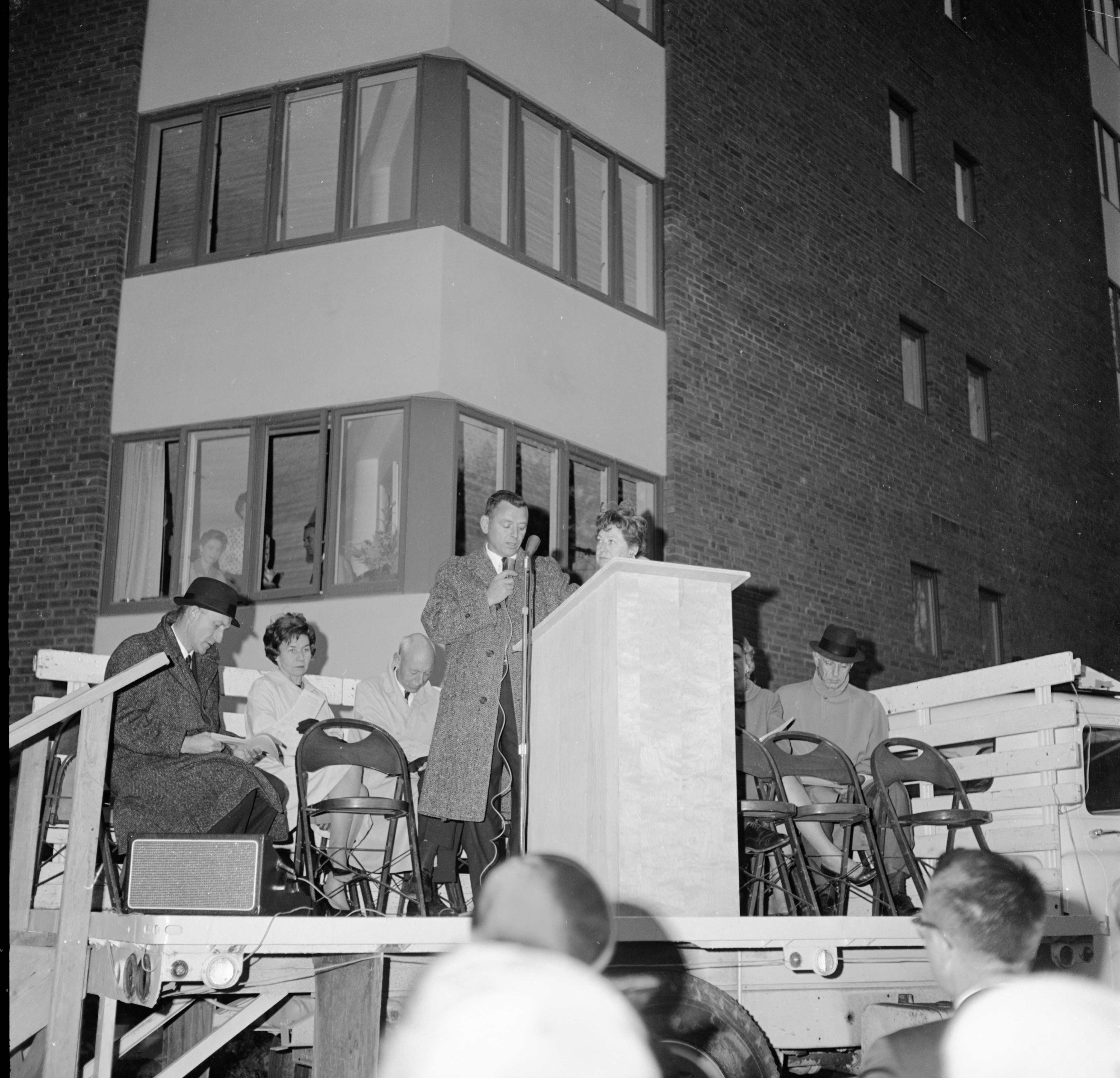 Two Speakers At Dedication of Lurie Terrace, October 1964 image
