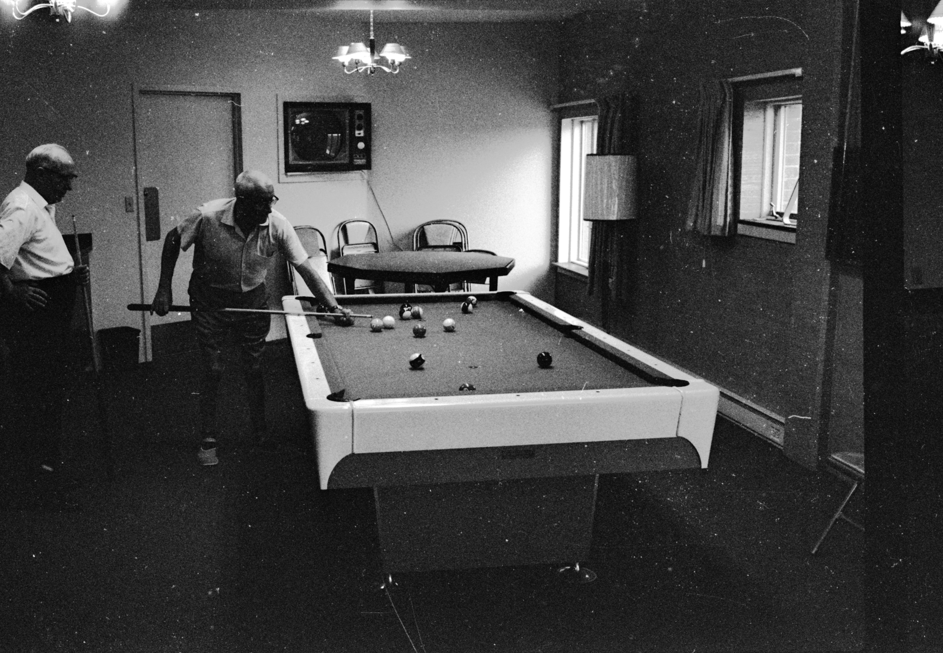 A Game Of Pool In The Men's Club At Lurie Terrace, July 1965 image