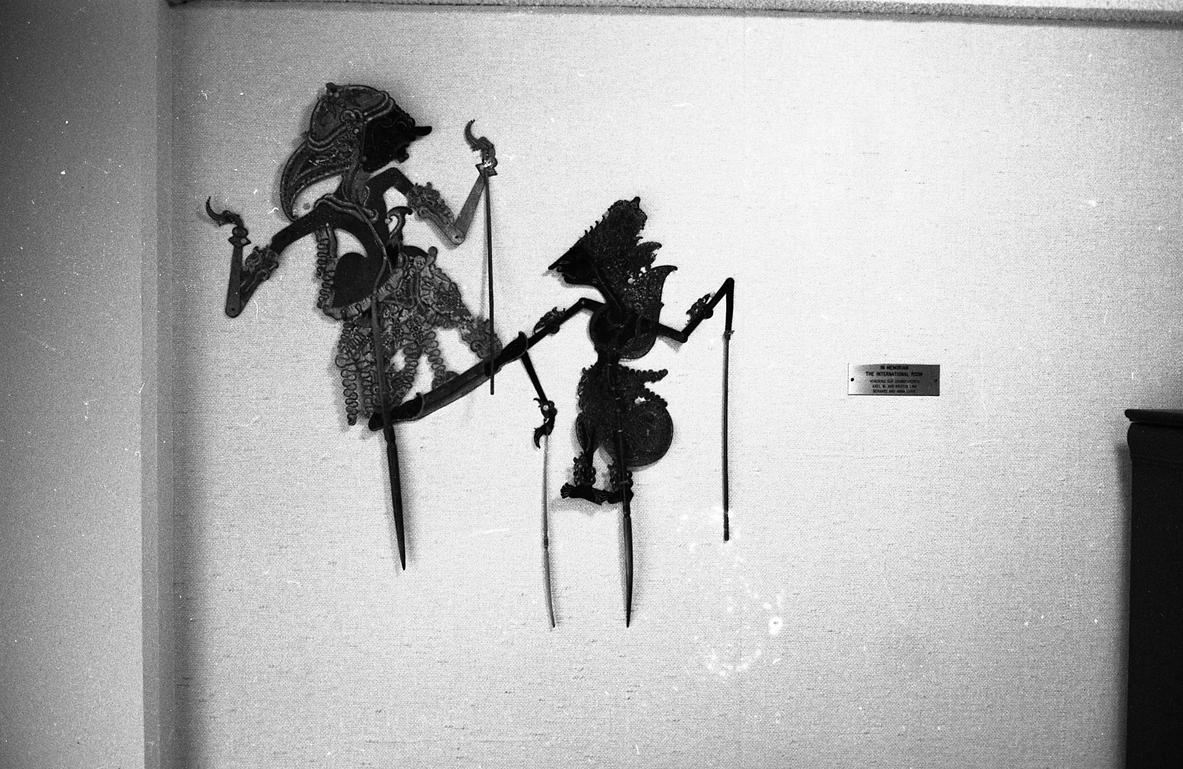 Indonesian Puppets On The Wall Of The Lucile Whitfield Lounge At Lurie Terrace, July 1965 image