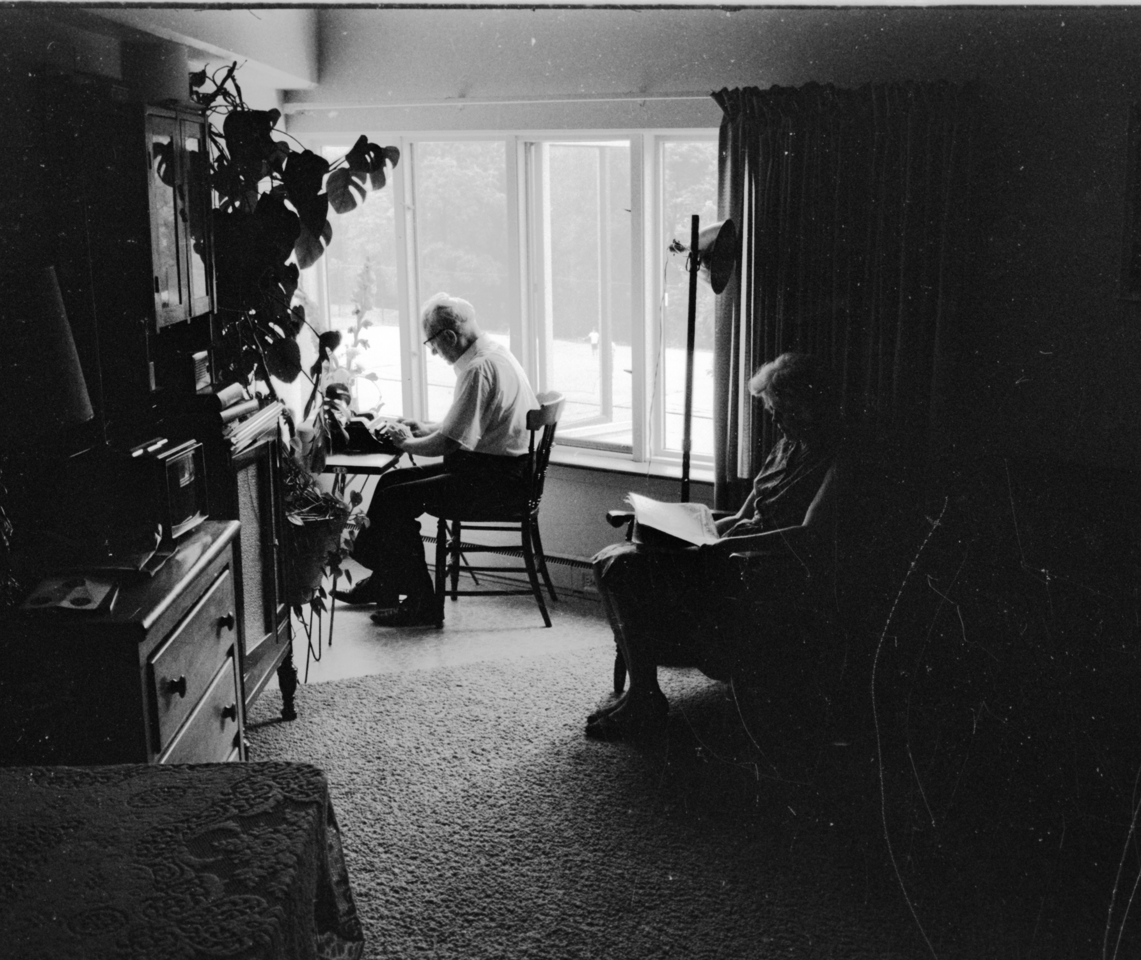 Residents Reading At Lurie Terrace, July 1965 image