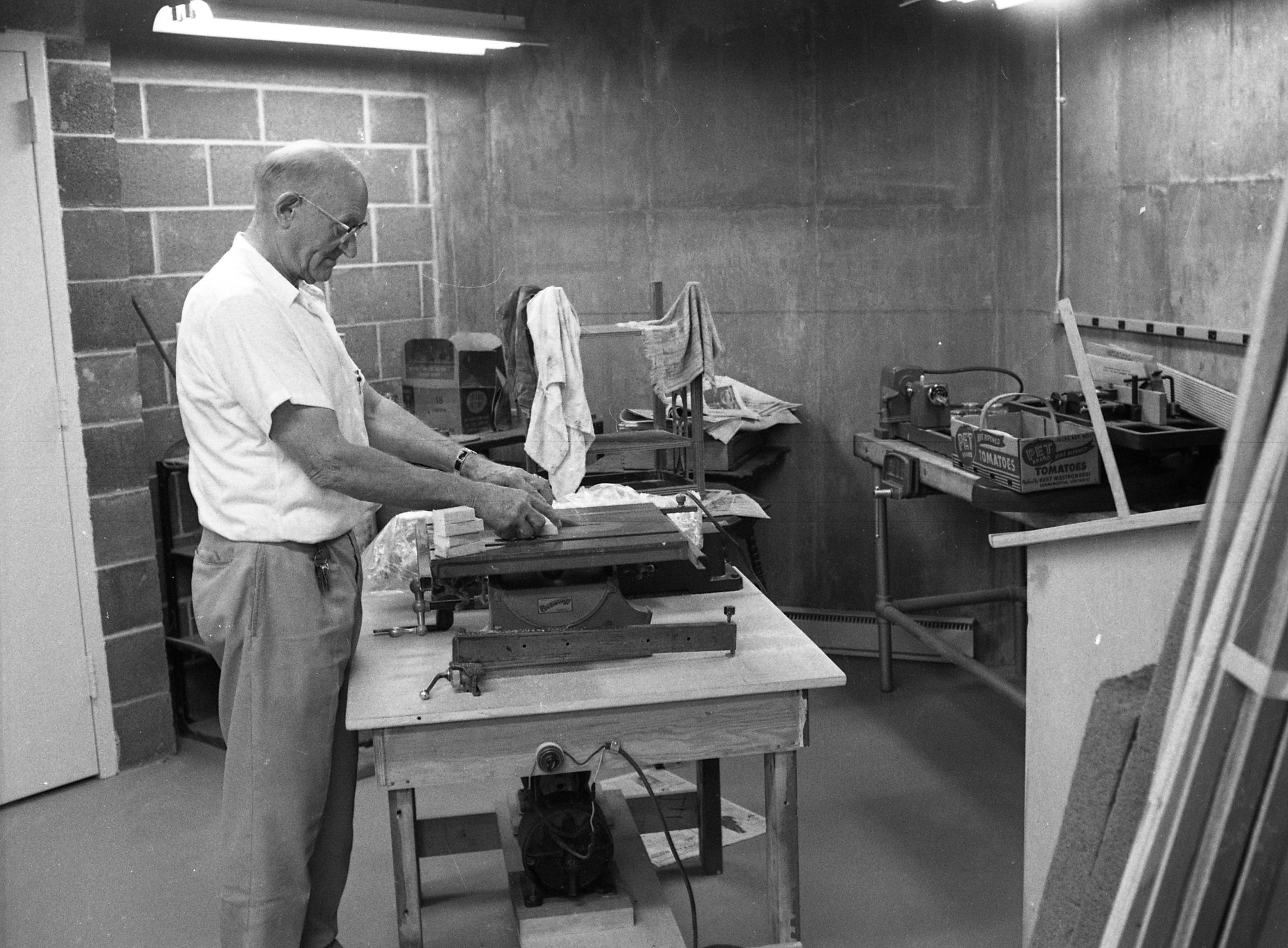 William Foss Busy In Workshop At Lurie Terrace, July 1965 image
