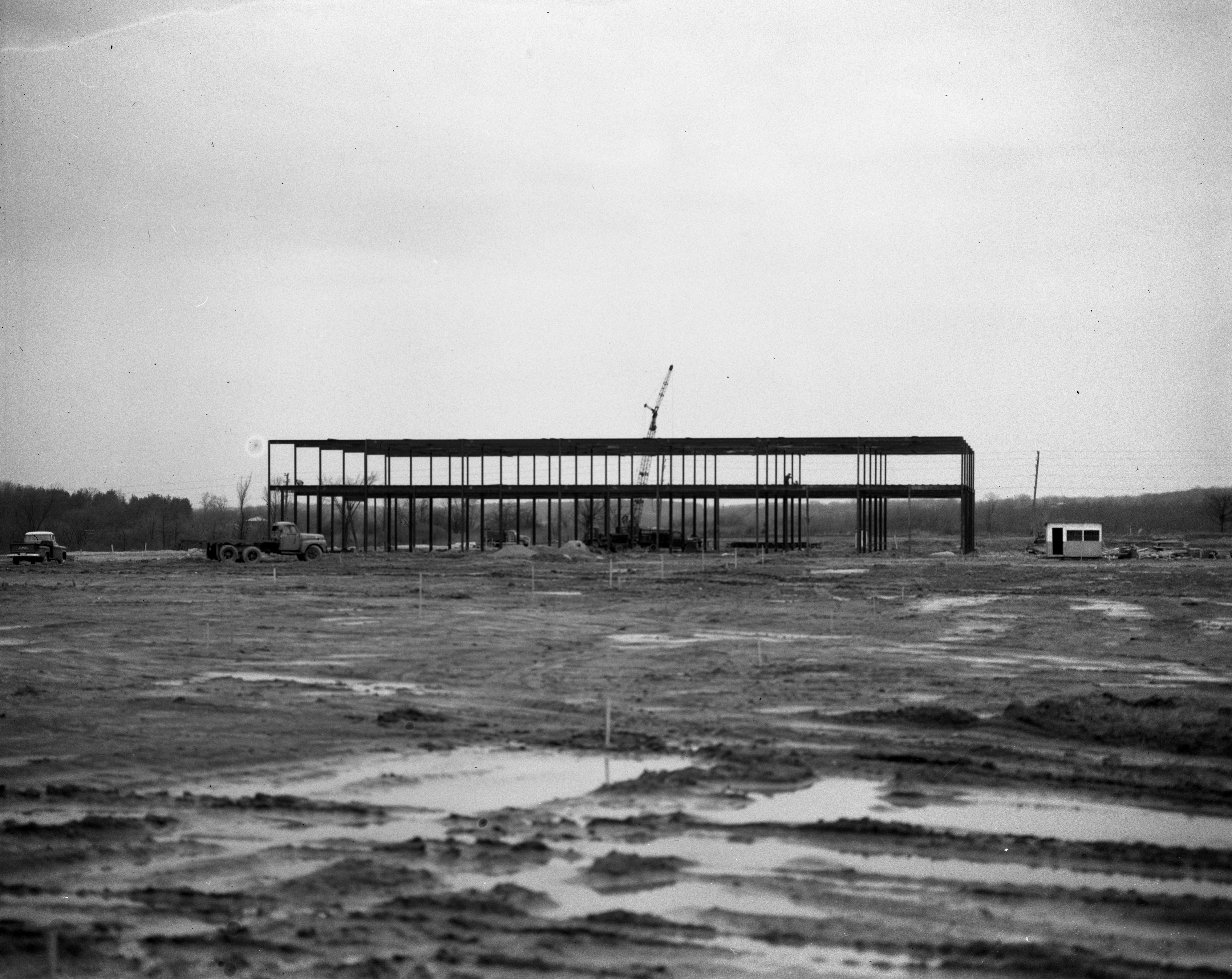 Steel Work Construction at Arborland Shopping Center, May 1961 image