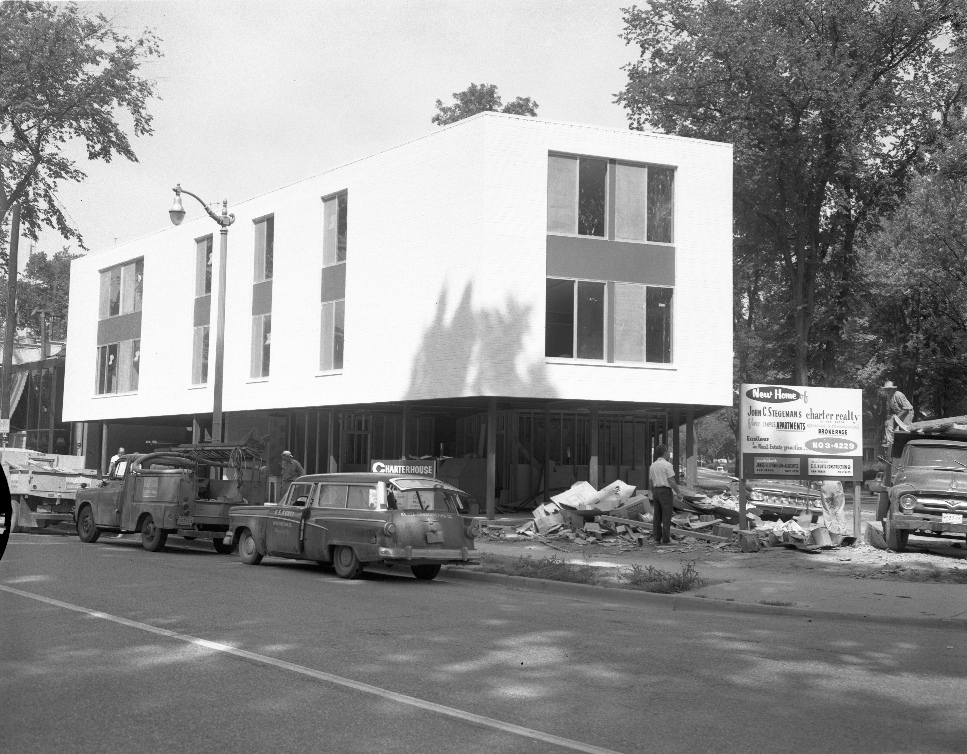 Construction Of The Charter House - 1335 South University, September 1961 image