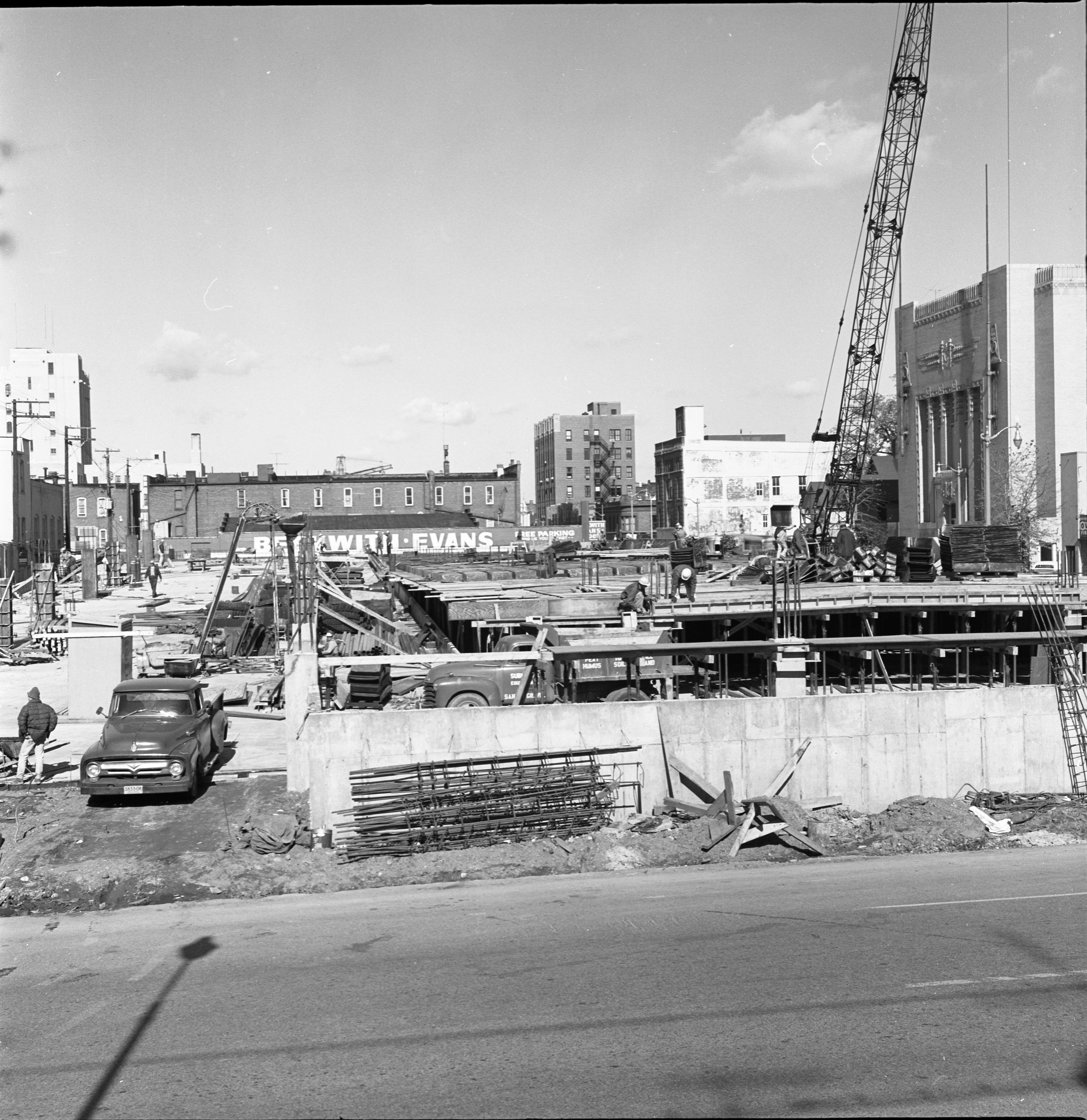 Carport Construction Site At William And Fourth, October 22 1966 image
