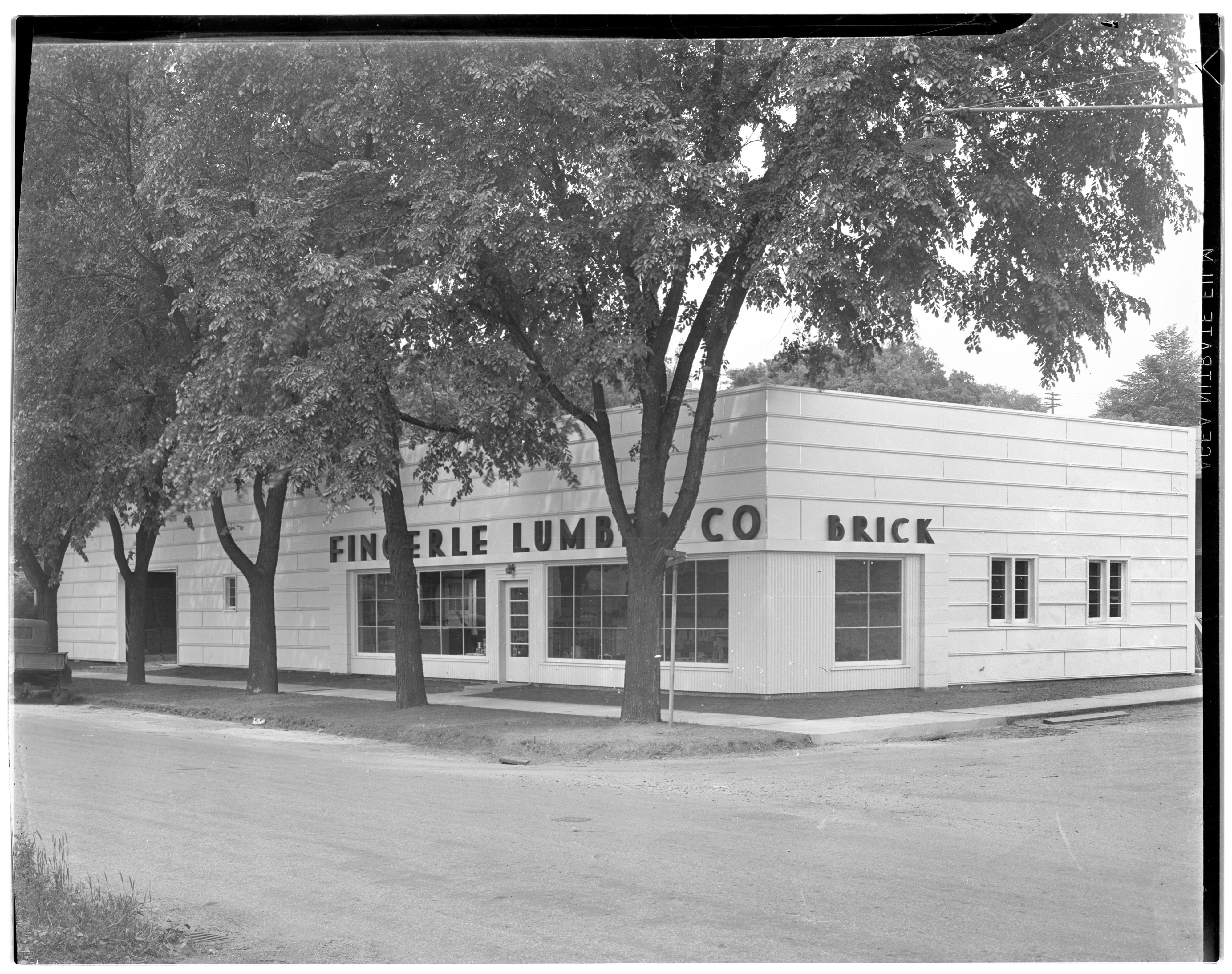 Fingerle Lumber Company - New Office, Store & Display Room, June 1936 image