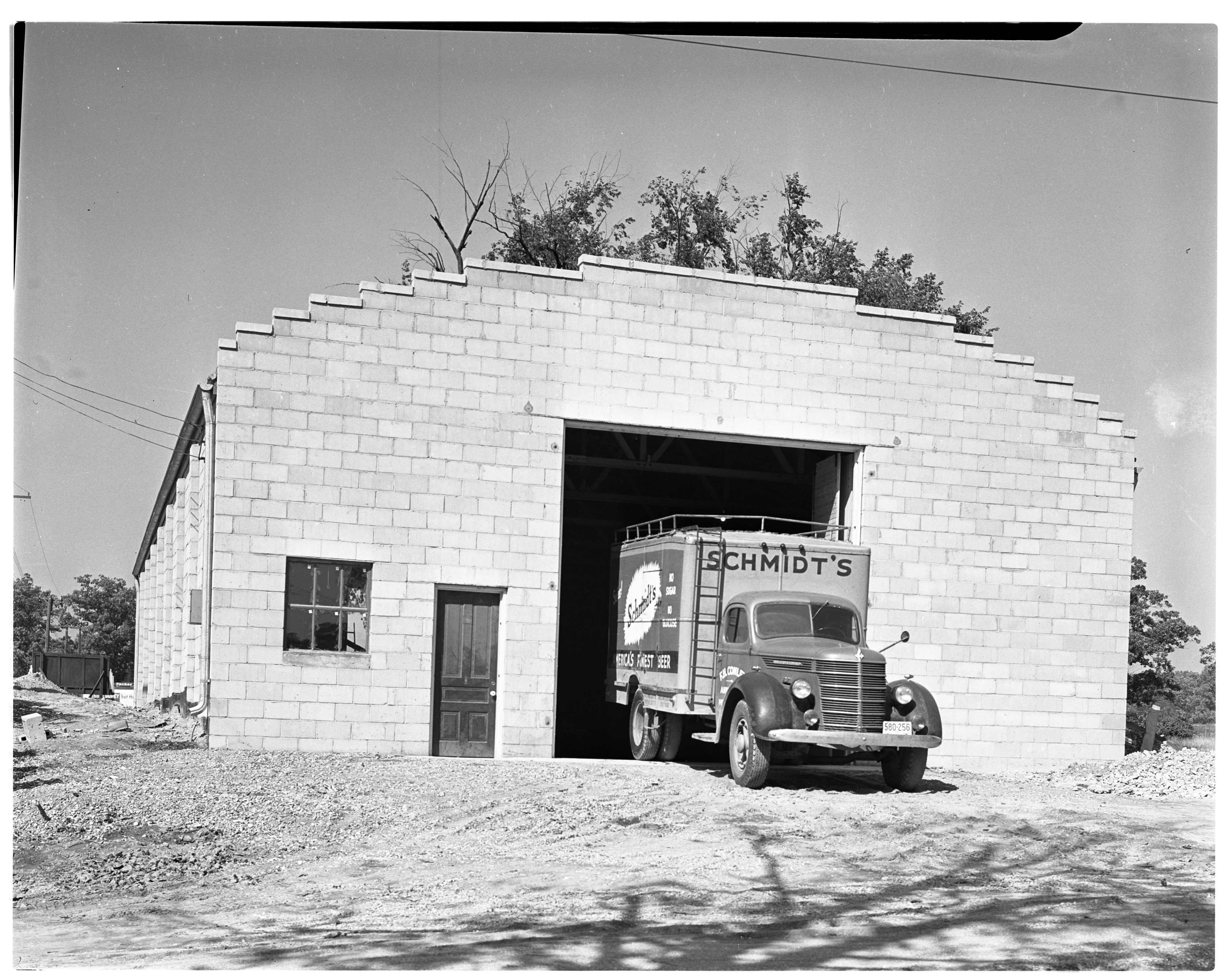 Newly Constructed Warehouse For F. H. Conley Co. Beer Distributing Firm, September 1939 image