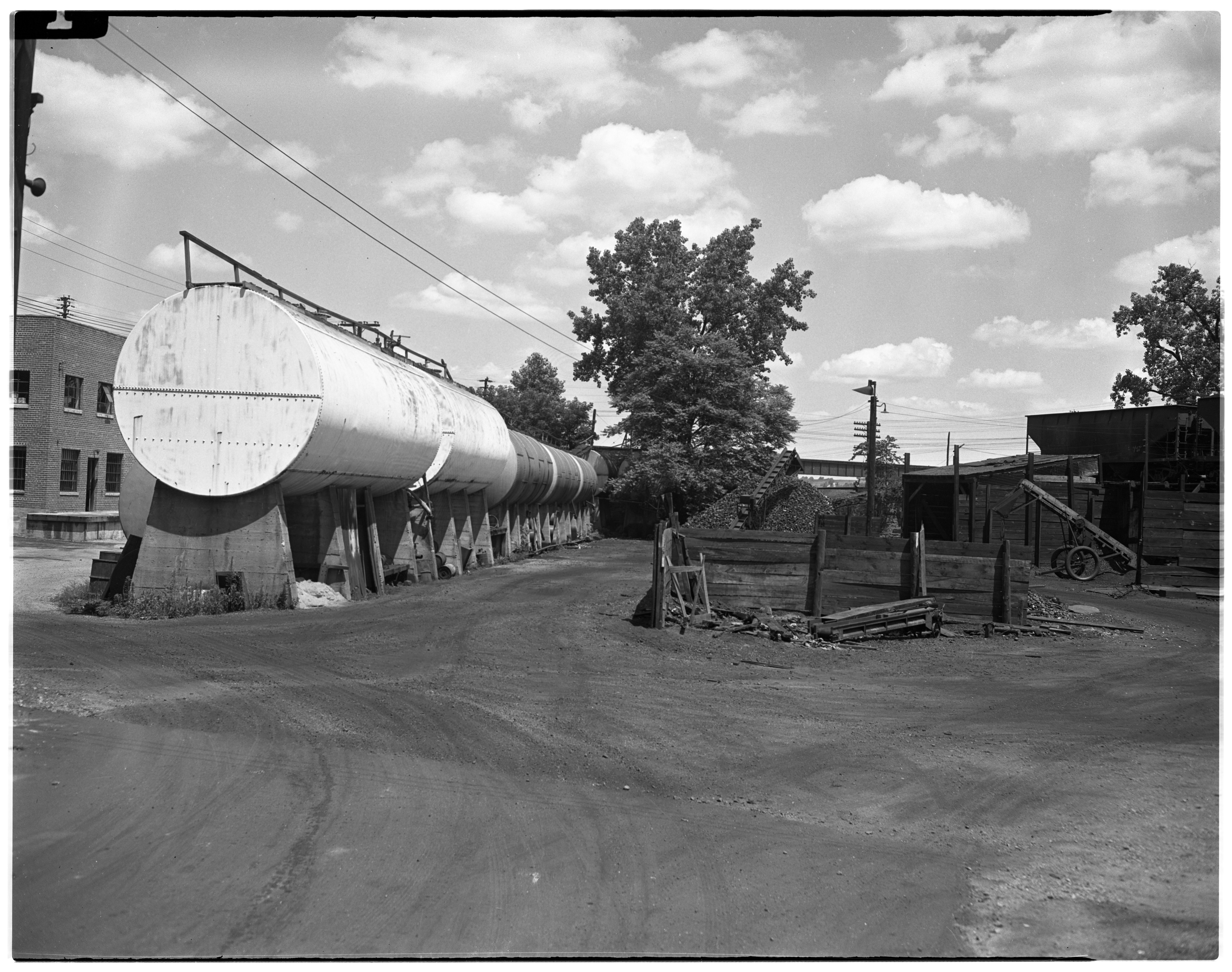Oil Storage Tanks at Staebler-Kempf's New Headquarters, 912 N Main,  July 1946 image