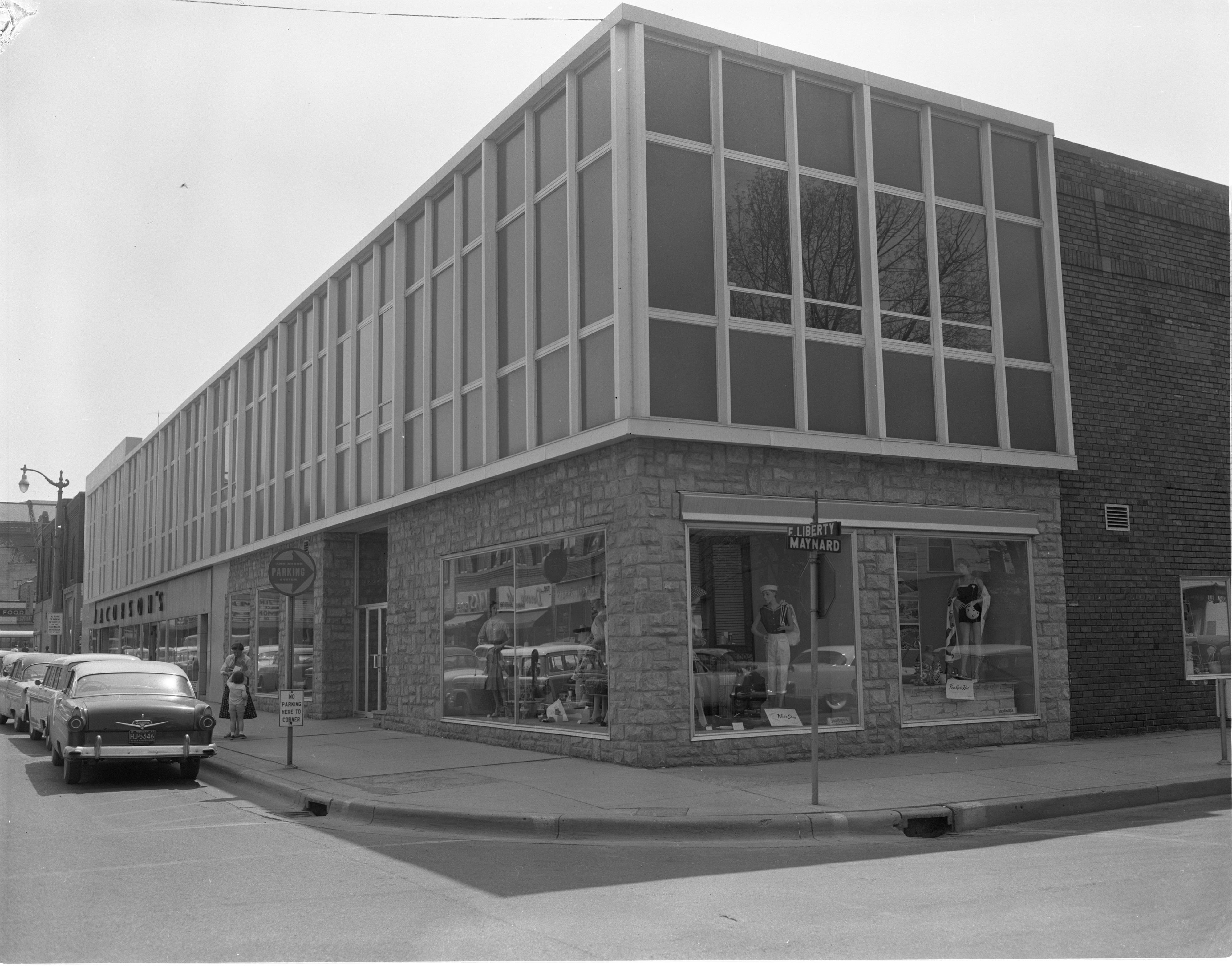 Updated Exterior Of Jacobson's Building, May 1957 image