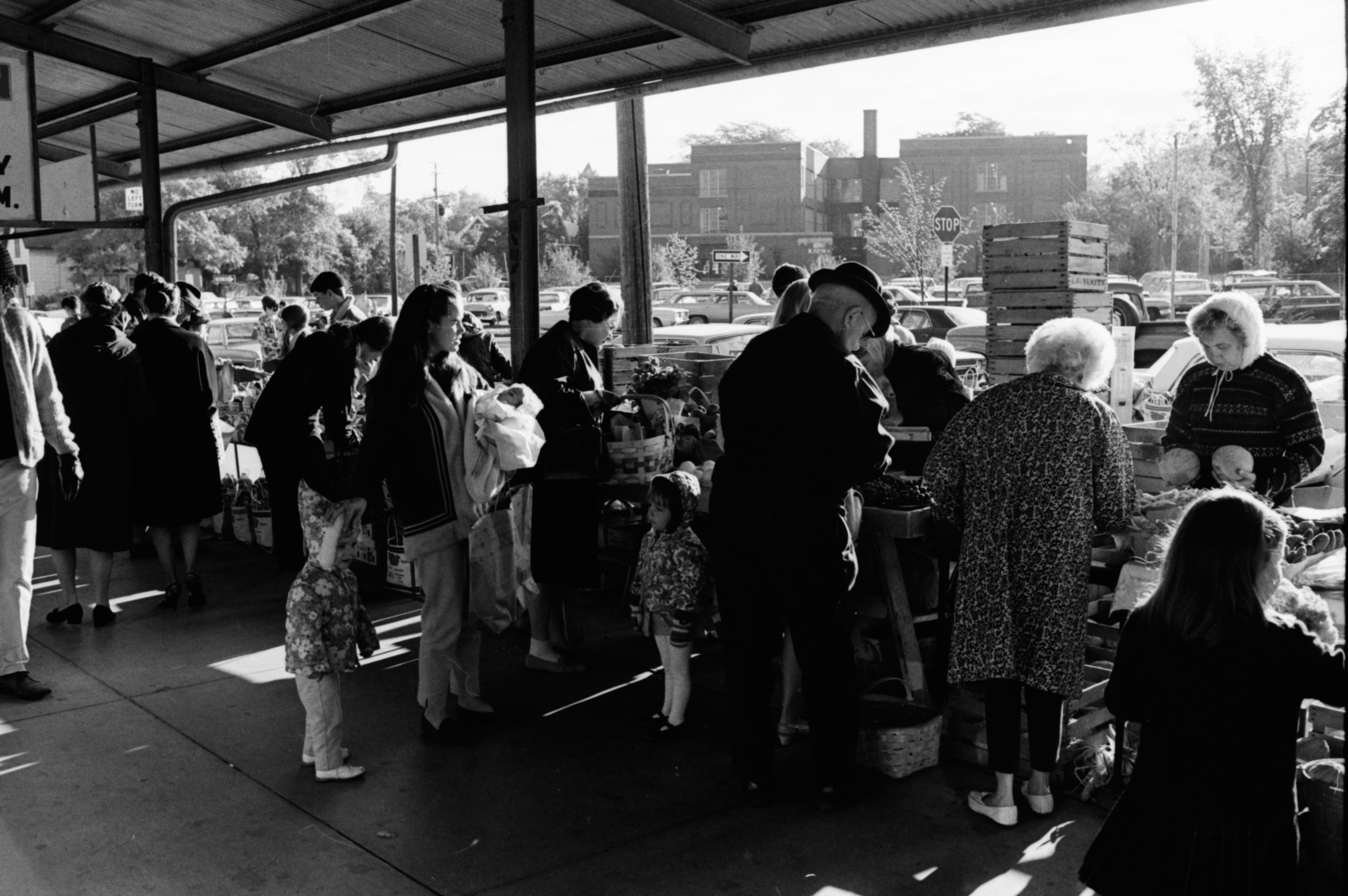 Waiting to Buy at the Ann Arbor Farmers Market, October 1968 image