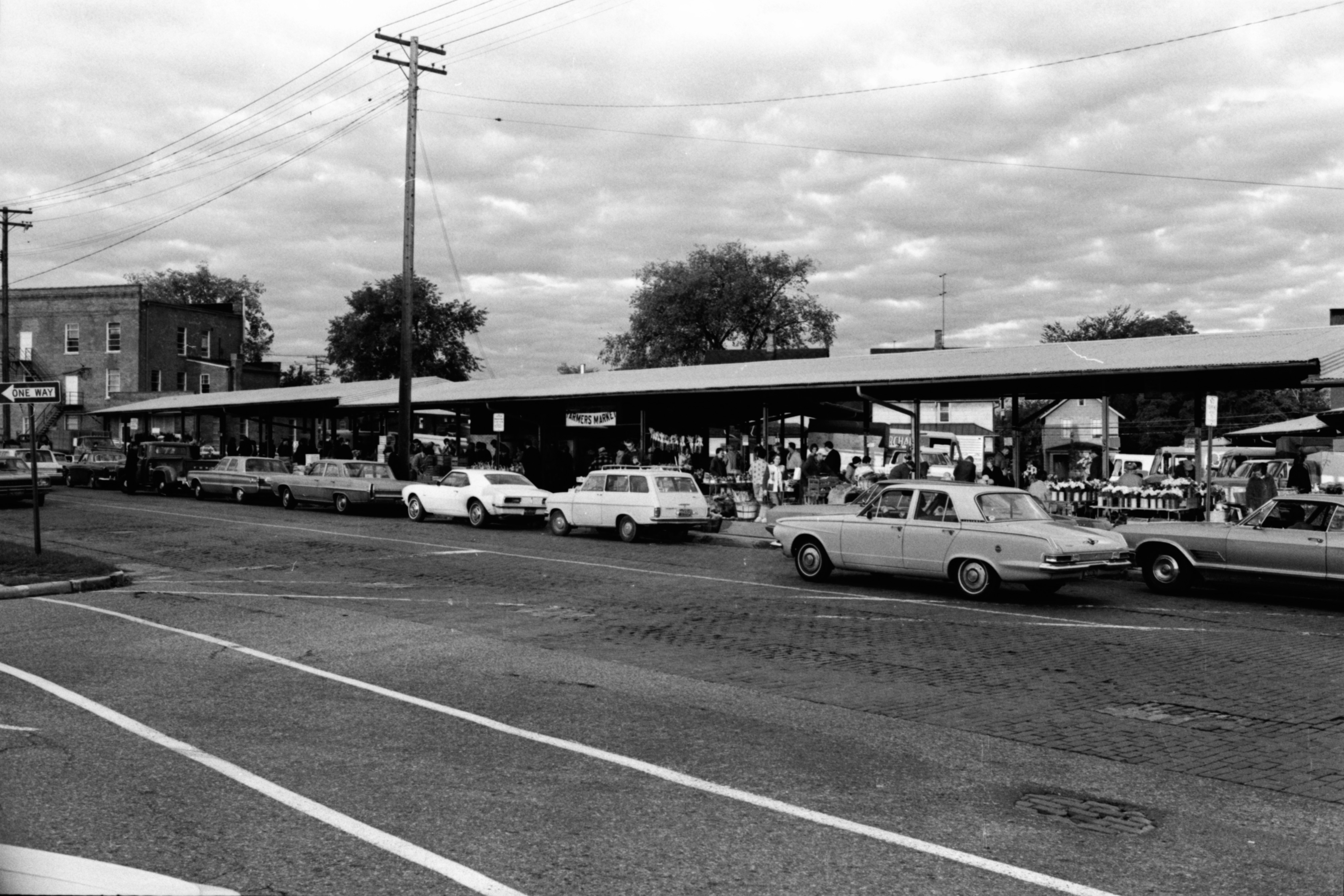 Cars Parked at the Ann Arbor Farmers Market, October 1968 image