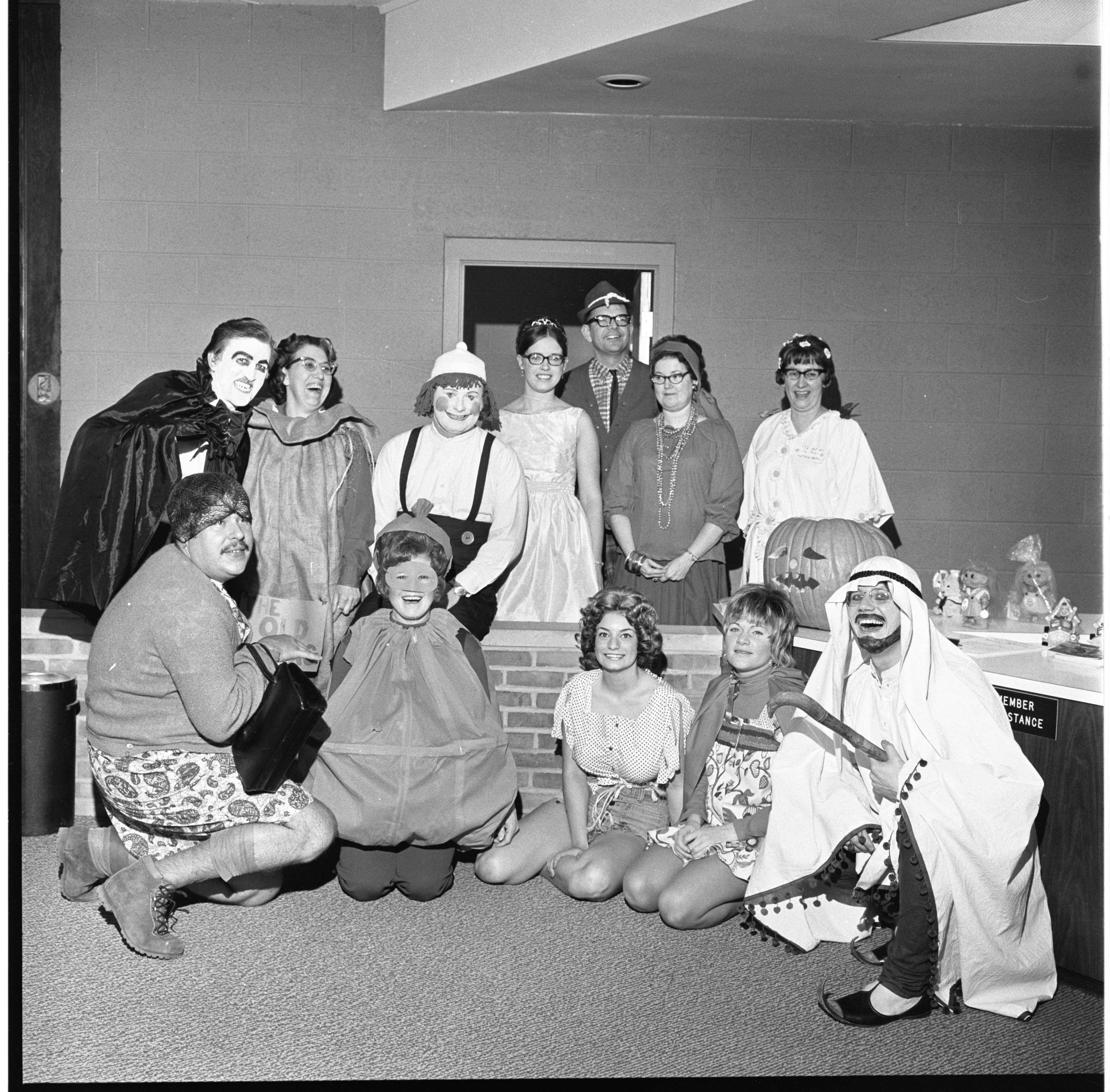 Ann Arbor Co-Op Credit Union Employees Dressed In Halloween Costumes - October 31, 1972 image
