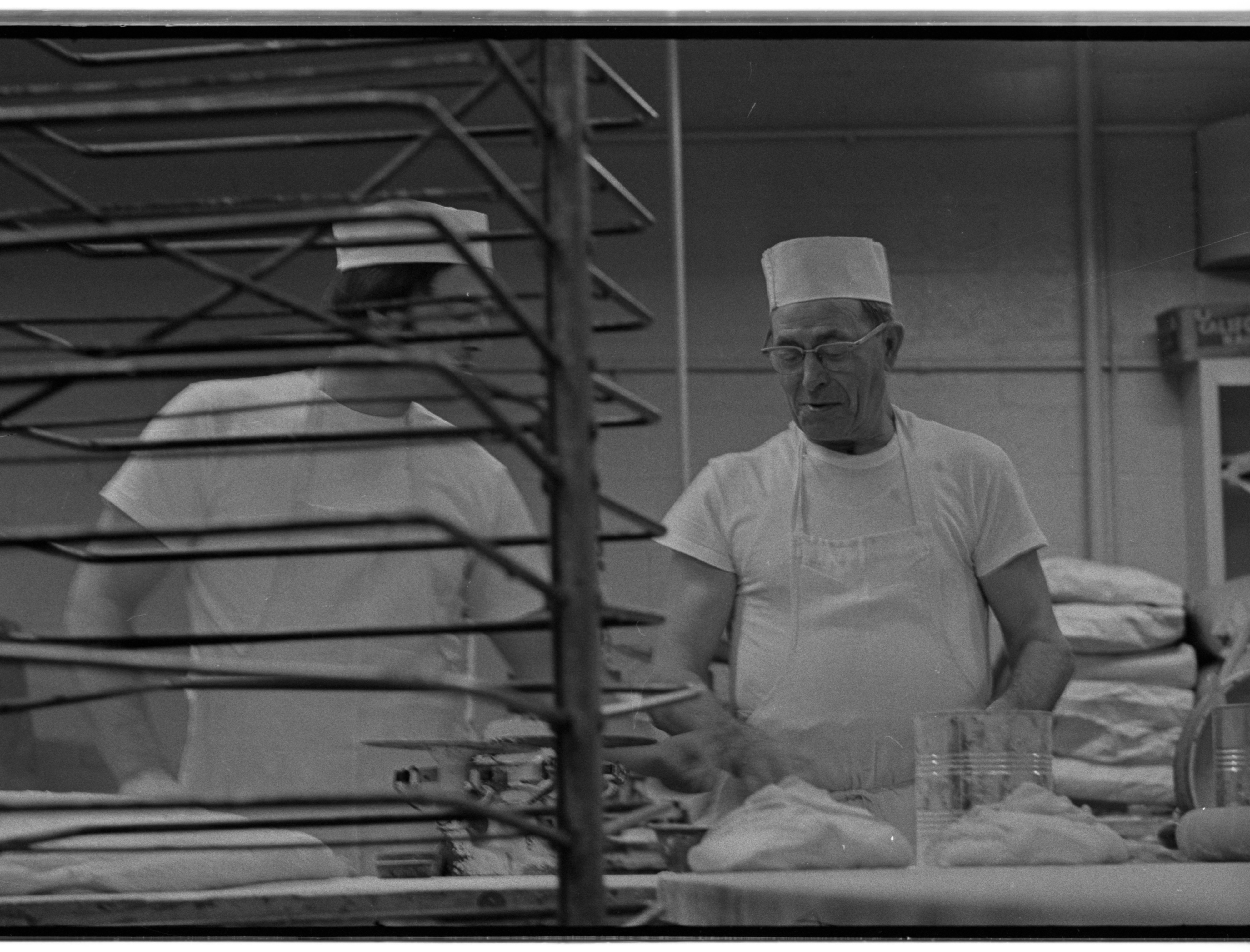 Jim Lutz and Gene Horning Making Bread at Quality Bakery, April 1974 image