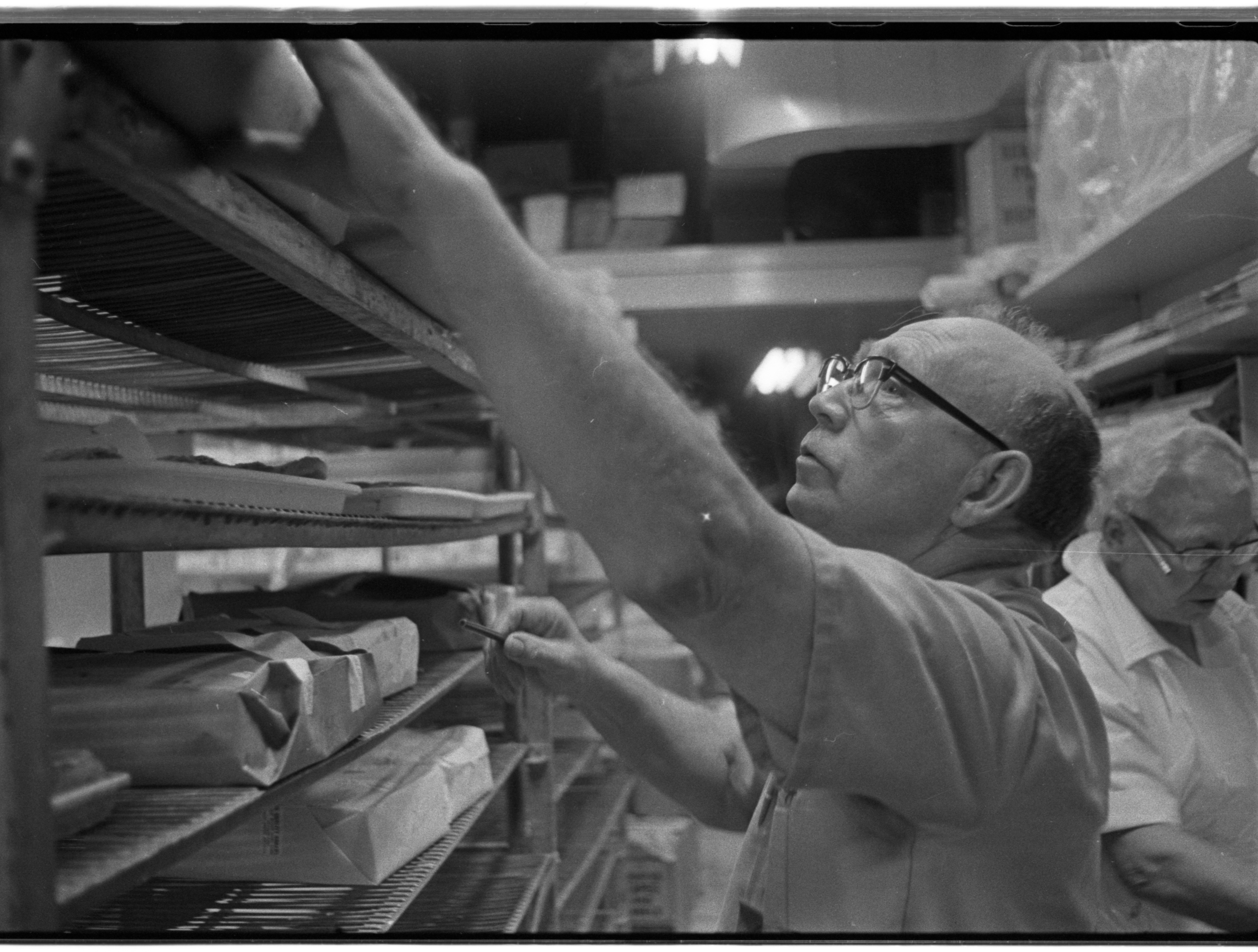 Bob Dickson Fills The Orders at Quality Bakery, April 1974 image