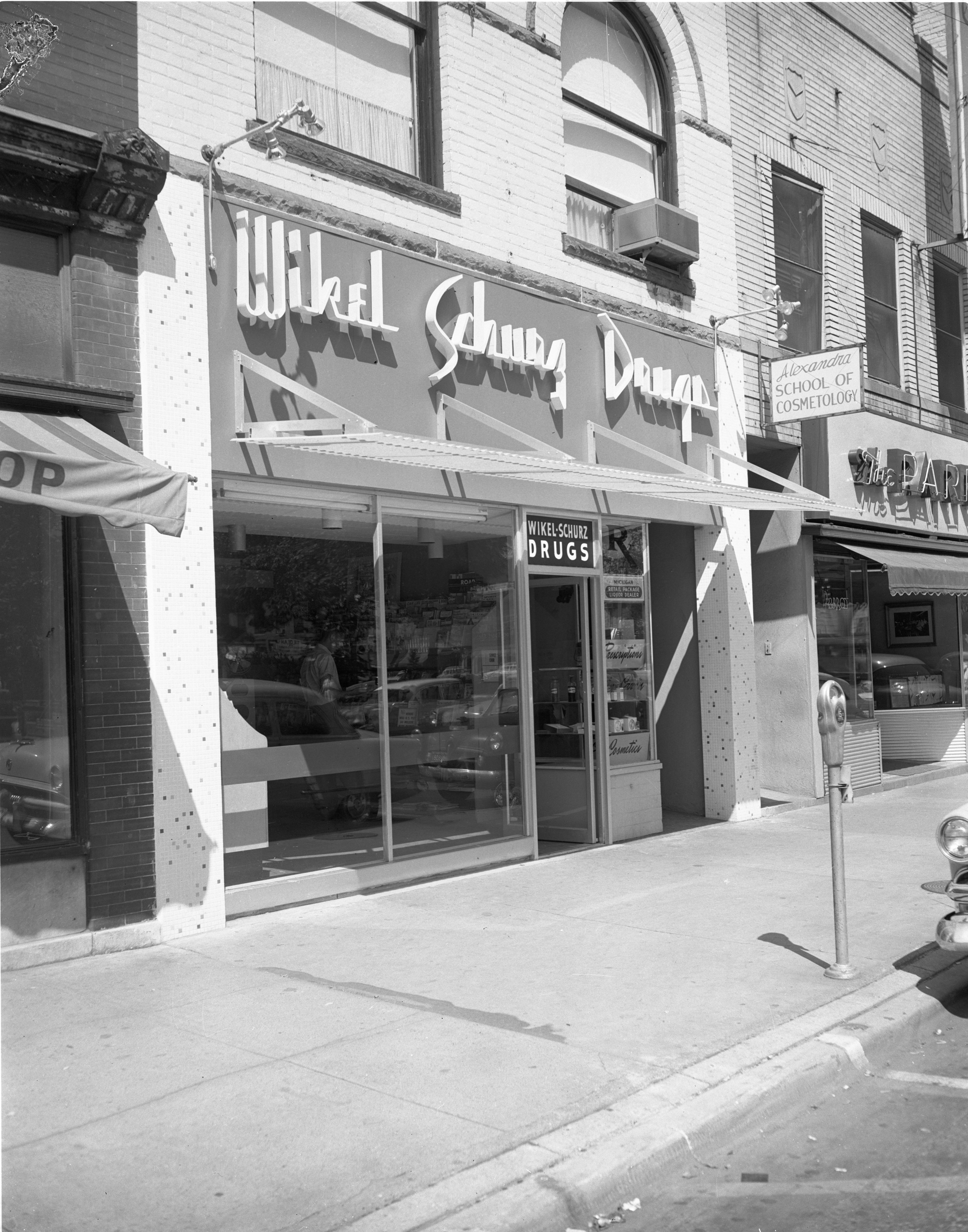 Exterior Of The New Wikel-Schurz Drugstore, August 1957 image