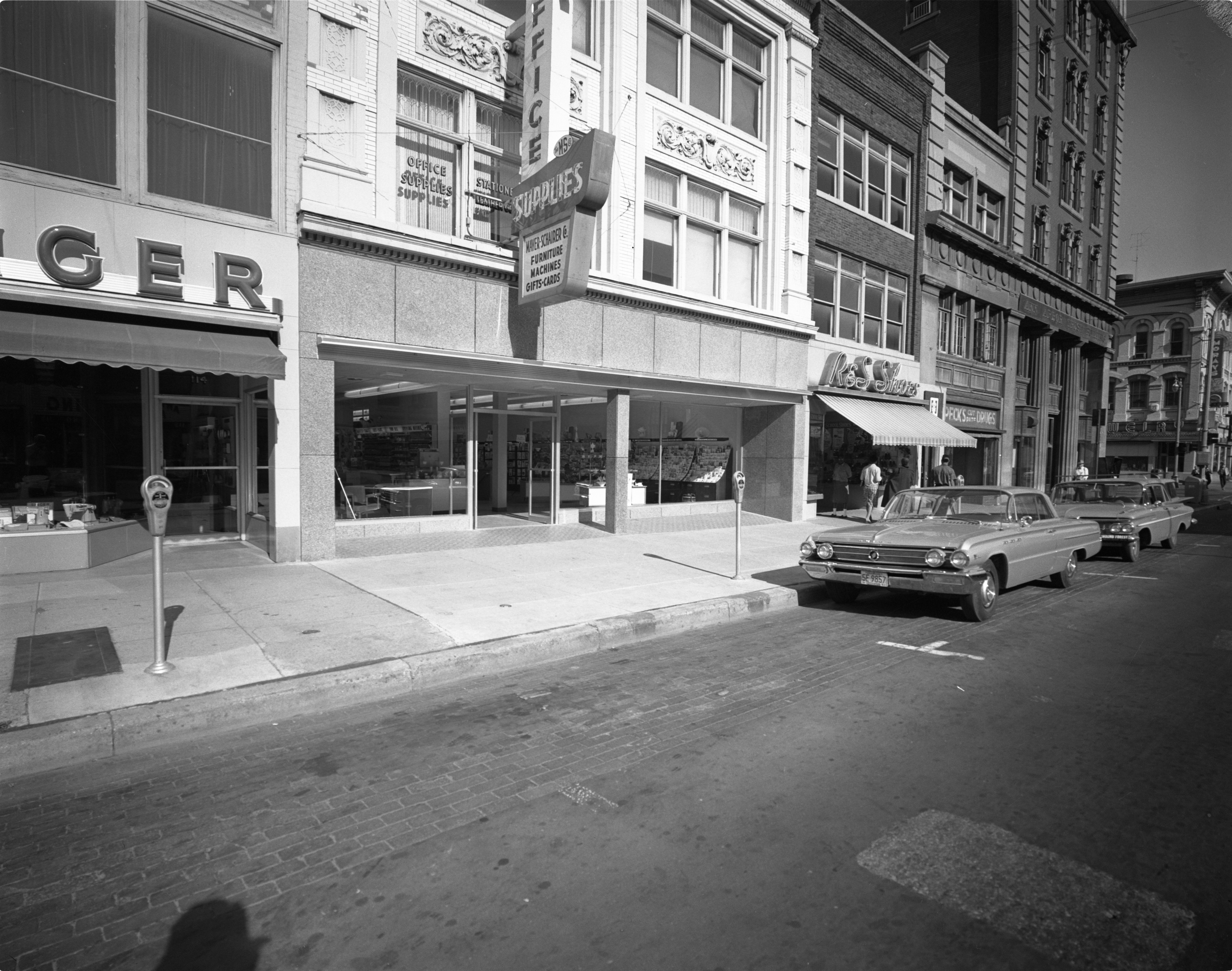 Newly Remodeled Exterior Of Mayer-Schairer, August 18, 1962 image