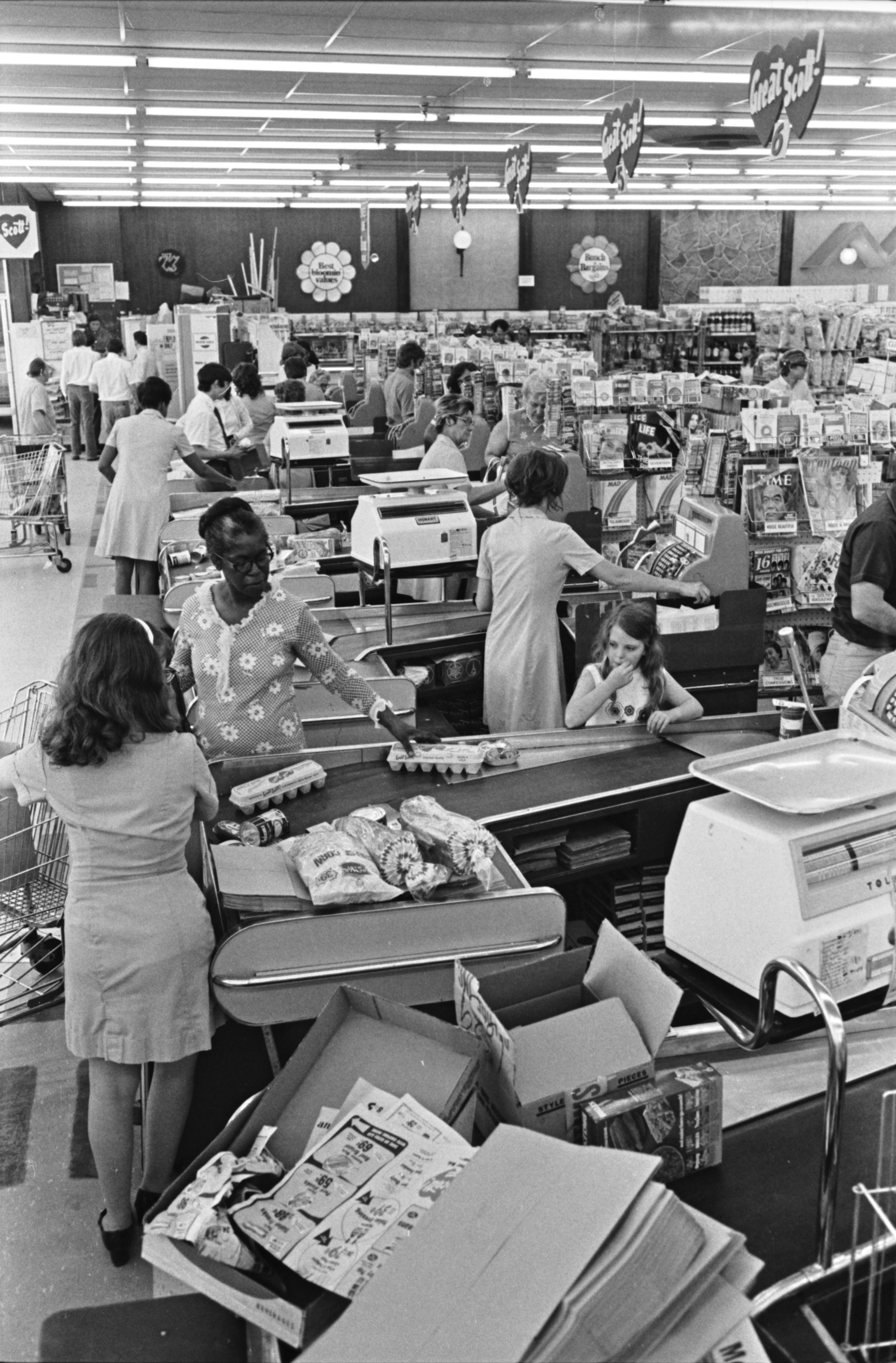 Busy Stores with Bargain-Hunting Shoppers, May 1972 image