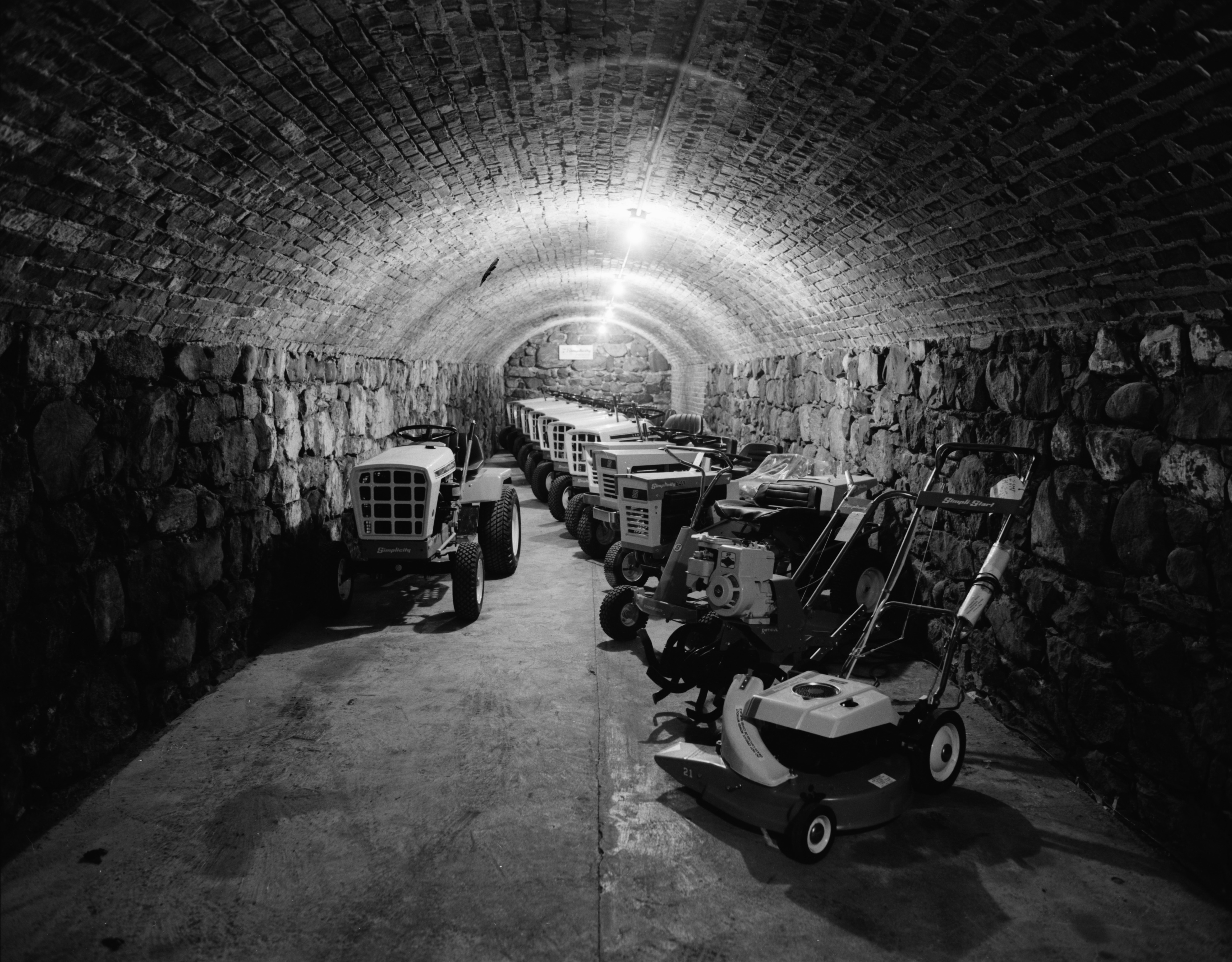 Old wine cellar in Ann Arbor Implement Company, 210 S First St., April 1974 image
