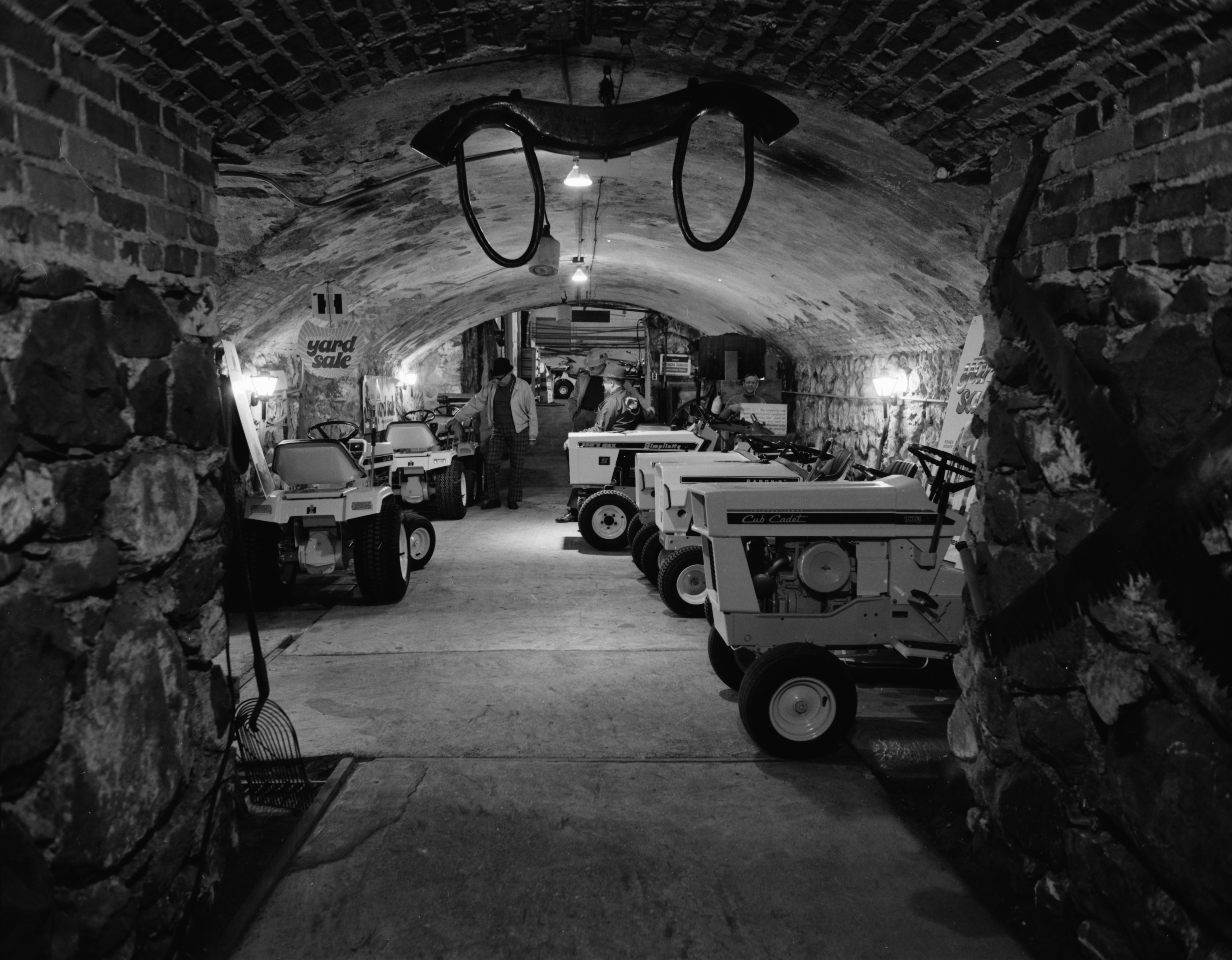 Old wine cellar in Ann Arbor Implement Company, April 1974 image