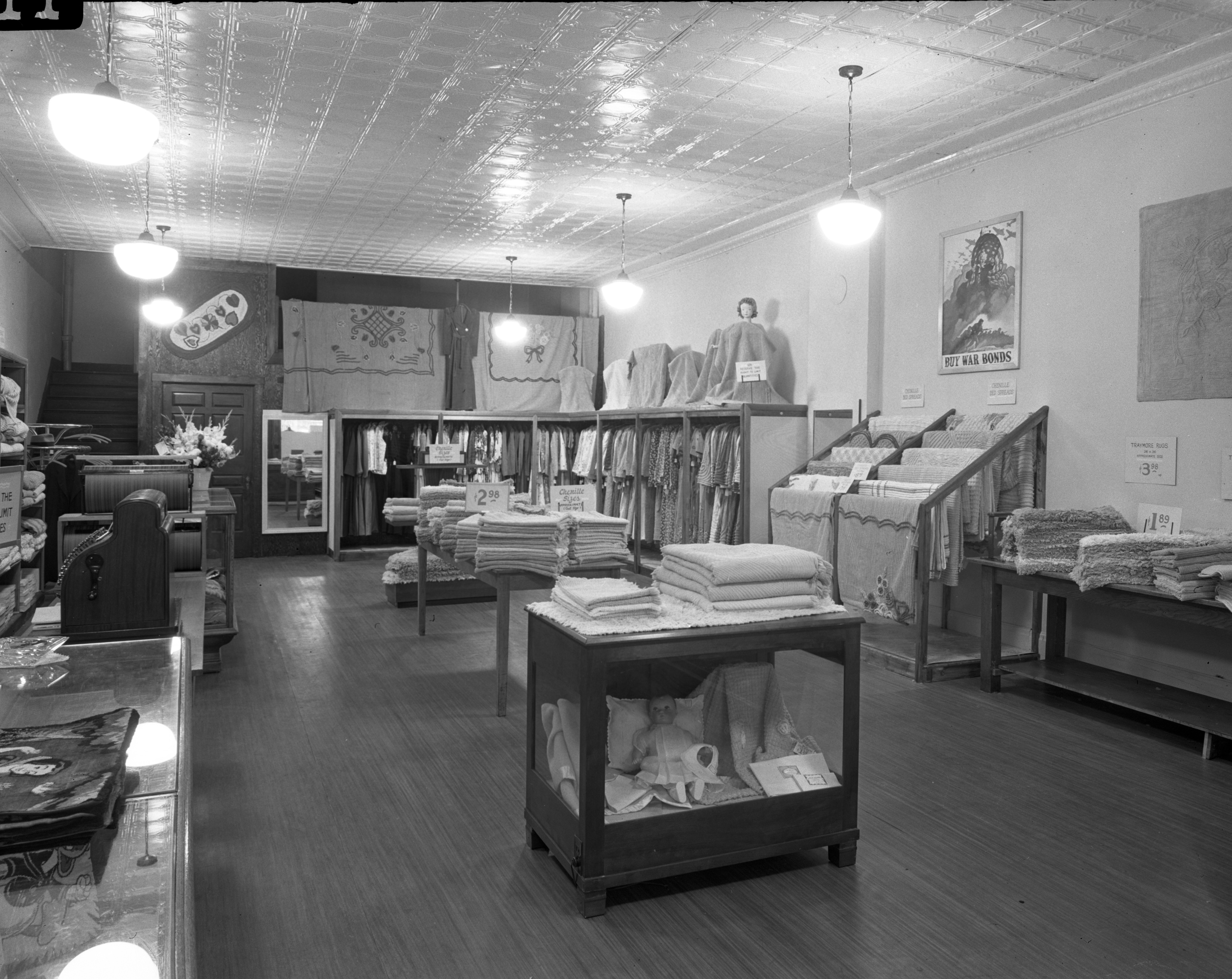 Interior Selma Morris Store, opening day, October 1943 image