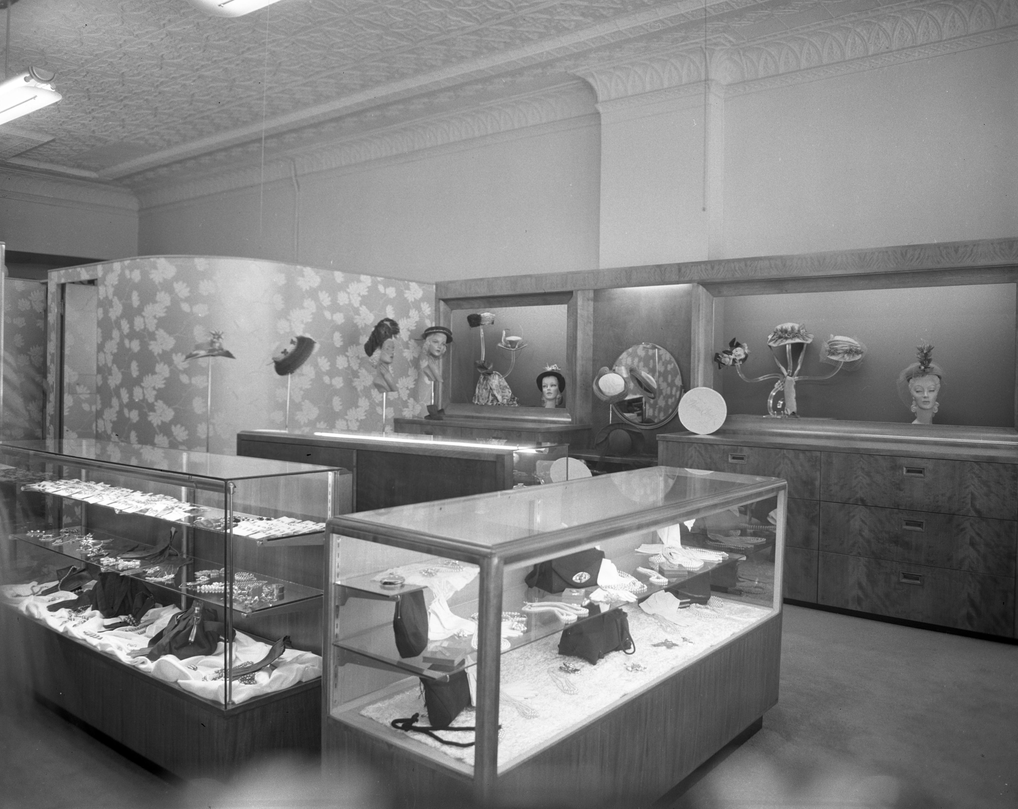 Interior of Polhemus Millinary Shop on State Street, September 1948 image