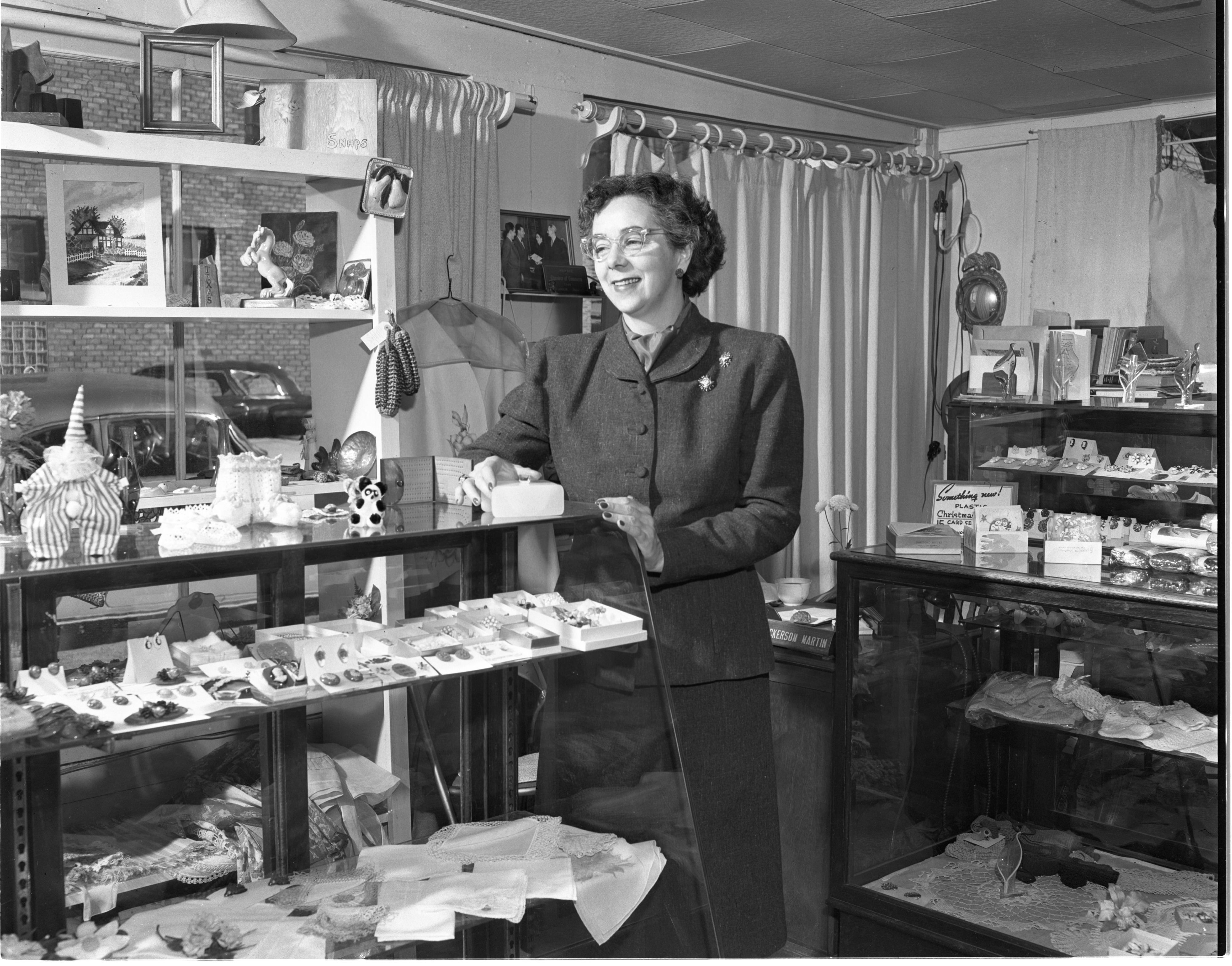 Margaret Nickerson Martin, Owner Of The Tuckaway House, Inside Her Store, October 1949 image