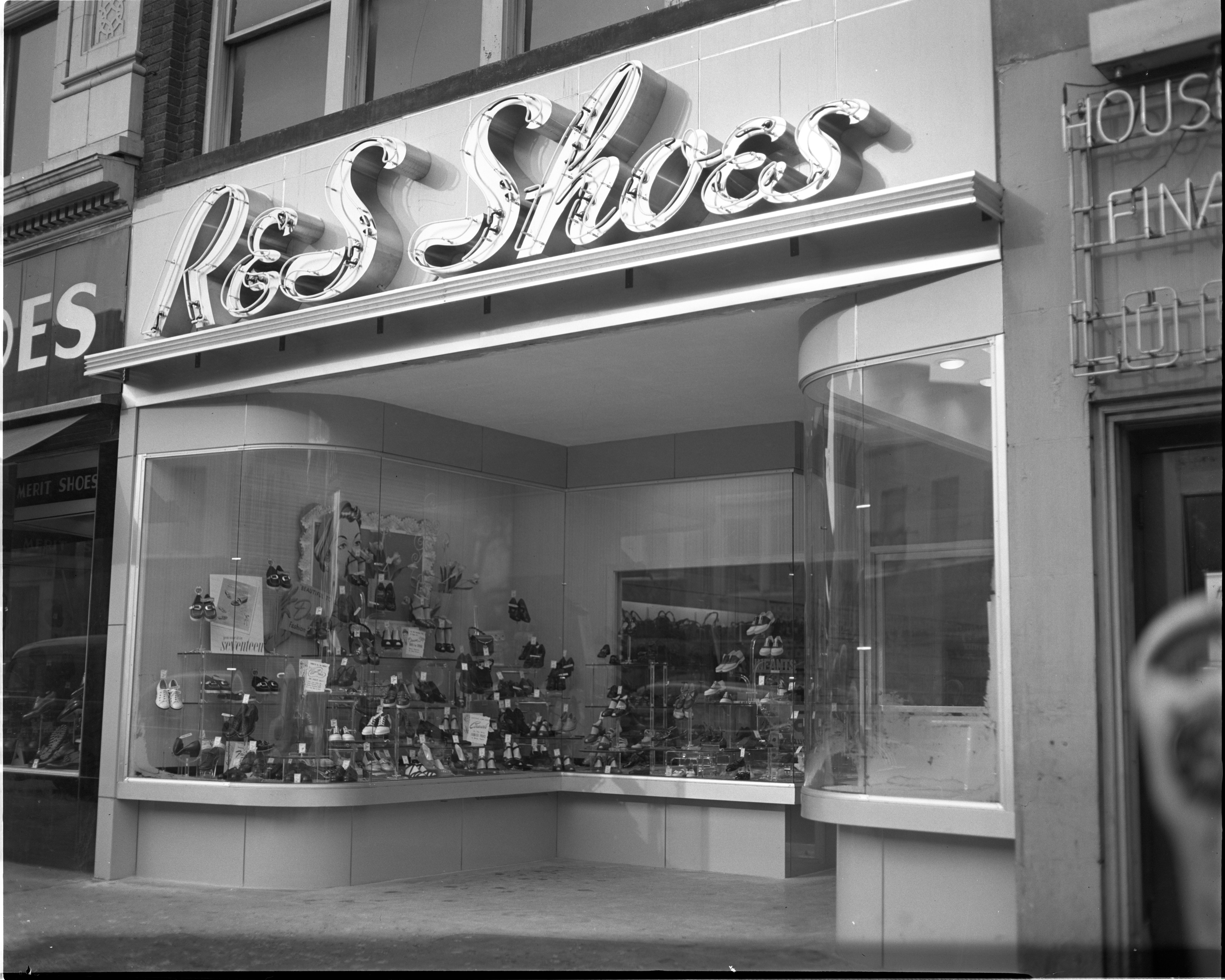 R & S Shoe Store - 108 S. Main Street, February 1950 image