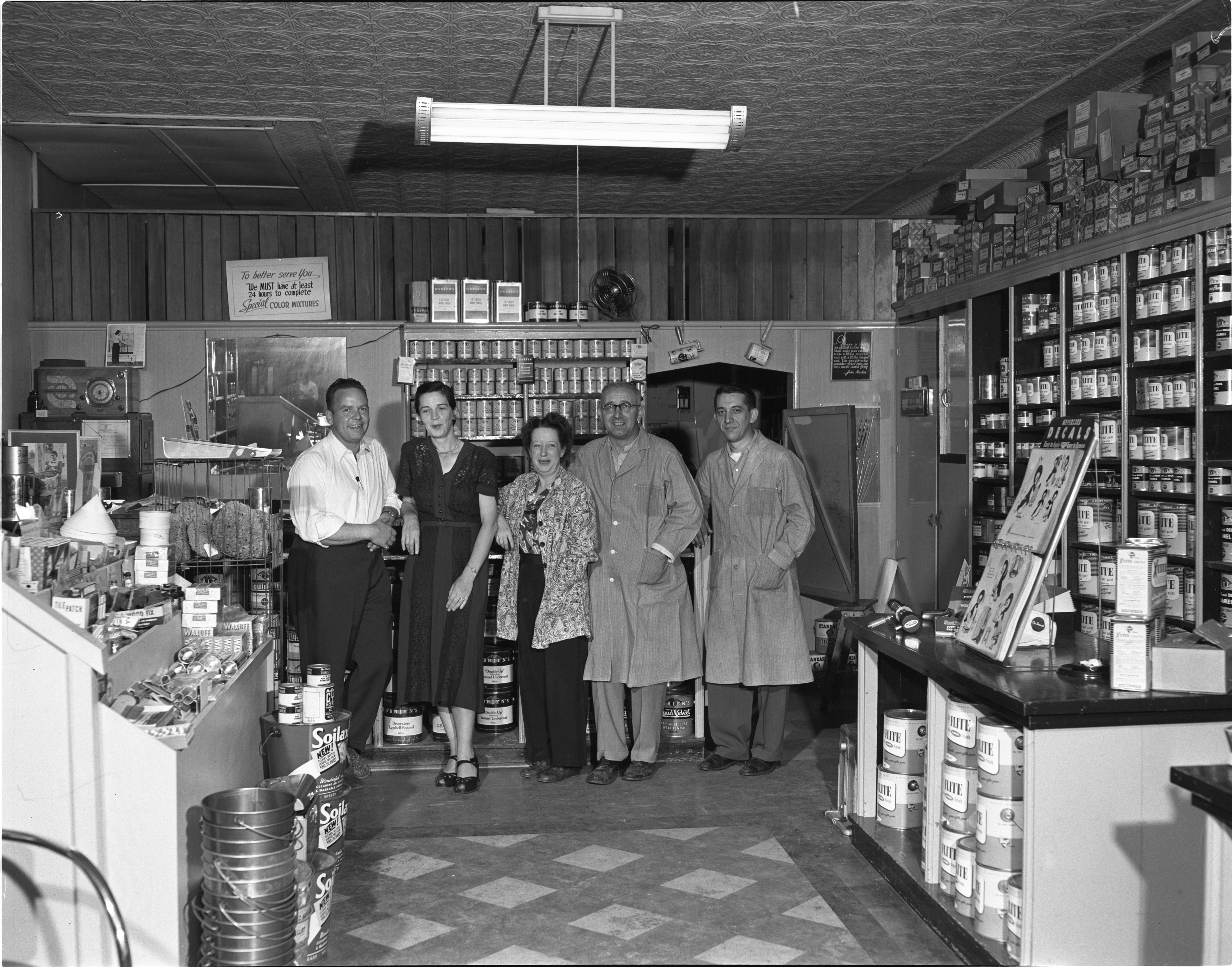 The Paint Pot - Owner E. C. Rowe & Employees, September 1951 image