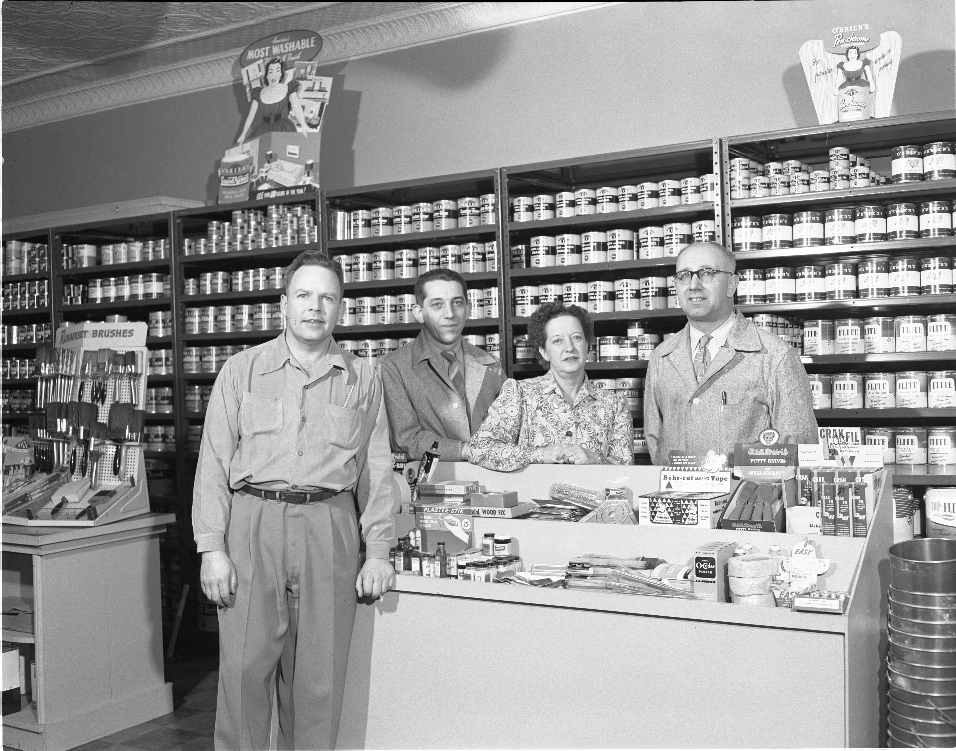 The Paint Pot - Owner E. C. Rowe & Employees, April 1952 image